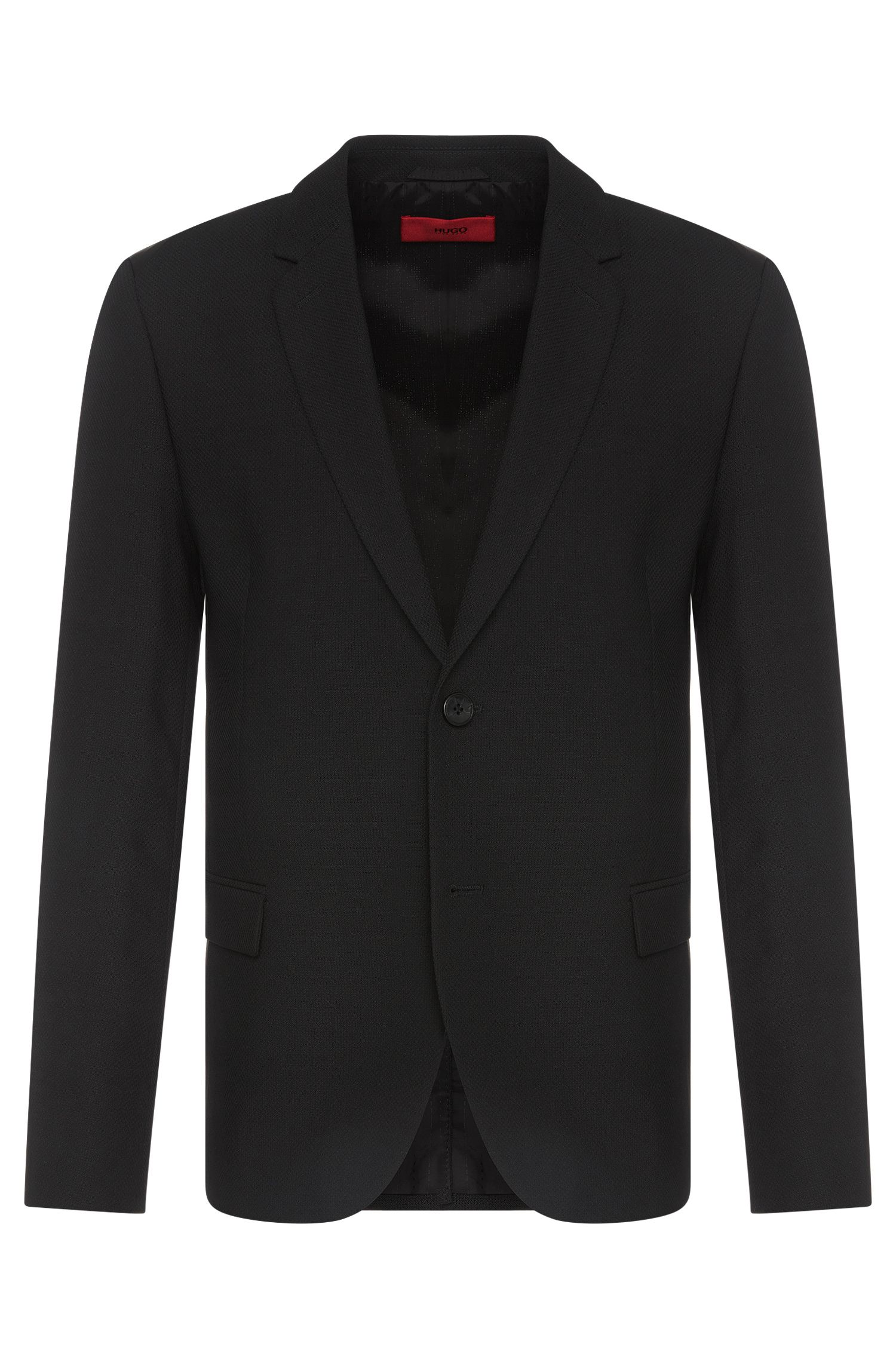 'Ander' | Regular Fit, Virgin Wool Blend Textured Sport Coat