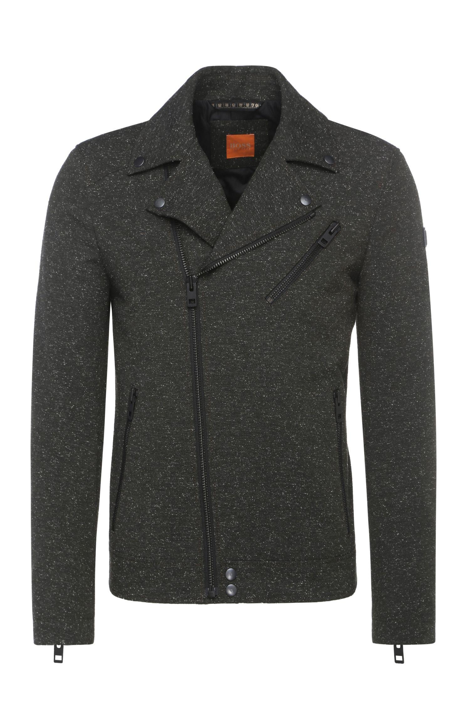 'Omorris' | Wool Blend Biker Jacket