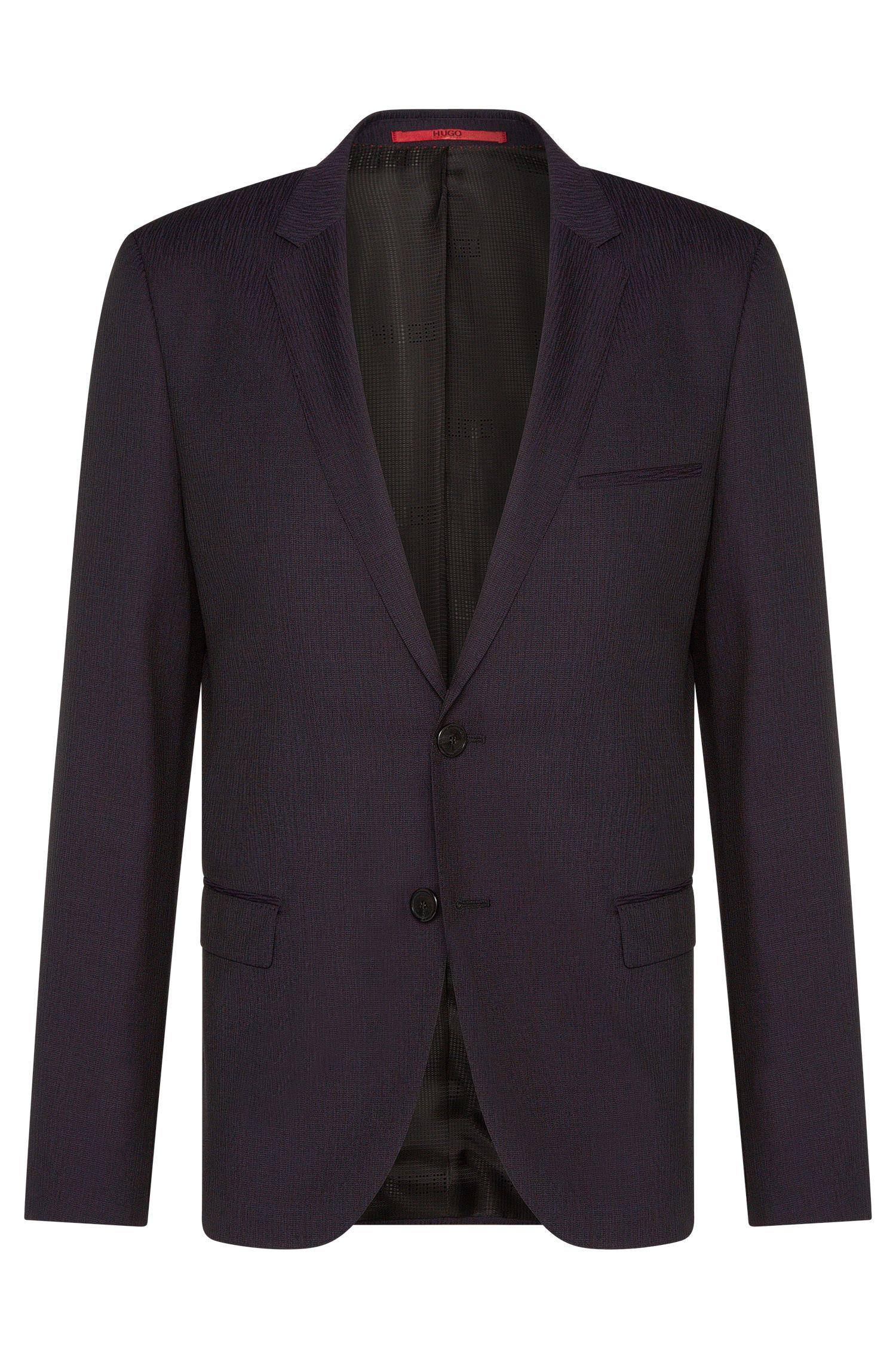 'Arti' | Slim Fit, Virgin Wool Melange Jacquard Sport Coat