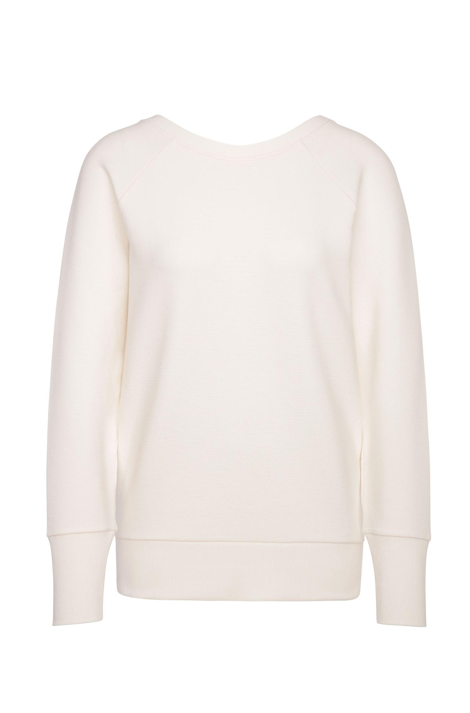 'Tawow' | Stretch Cotton Blend Ribbed Sweatshirt
