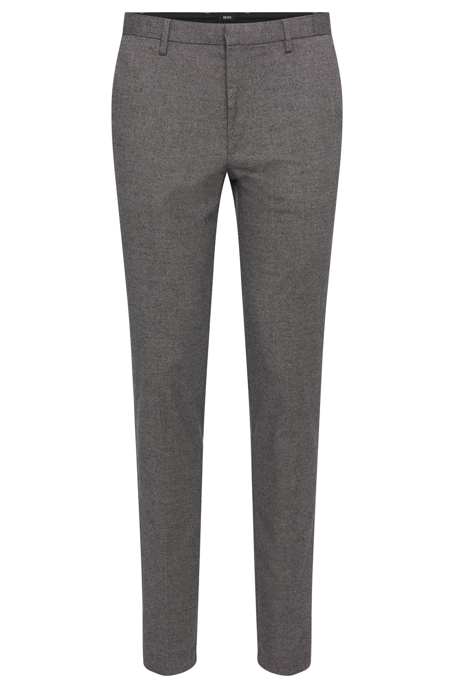 'Kaito-W'   Extra Slim Fit, Stretch Cotton Blend Patterned Pants