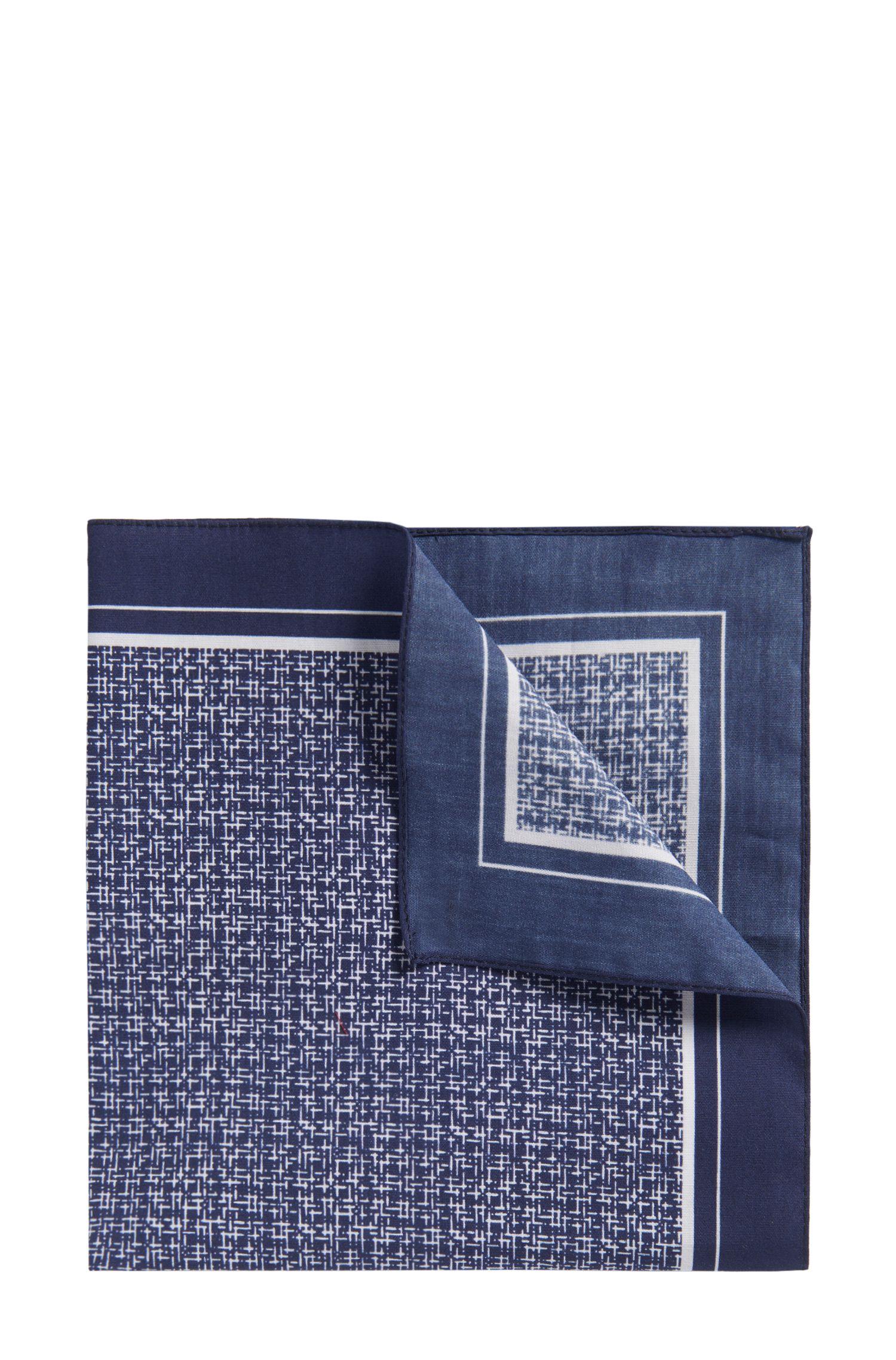 'Pocket sq. cm 33x33' | Cotton Patterned Pocket Square