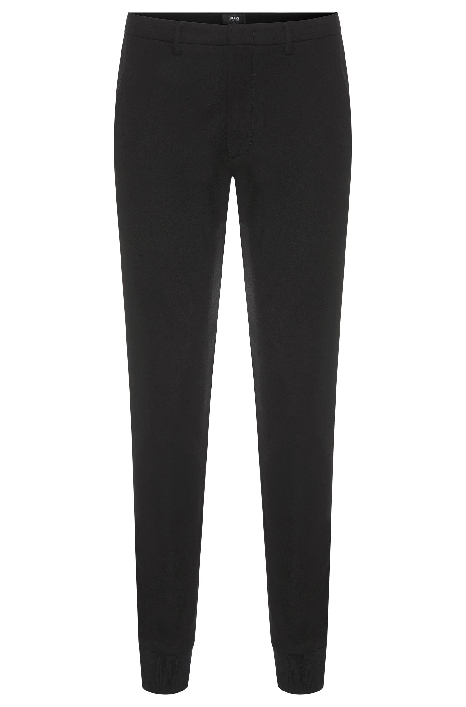 'Kito Jogg W' | Extra Slim Fit, Stretch Cotton Virgin Wool Blend Trousers