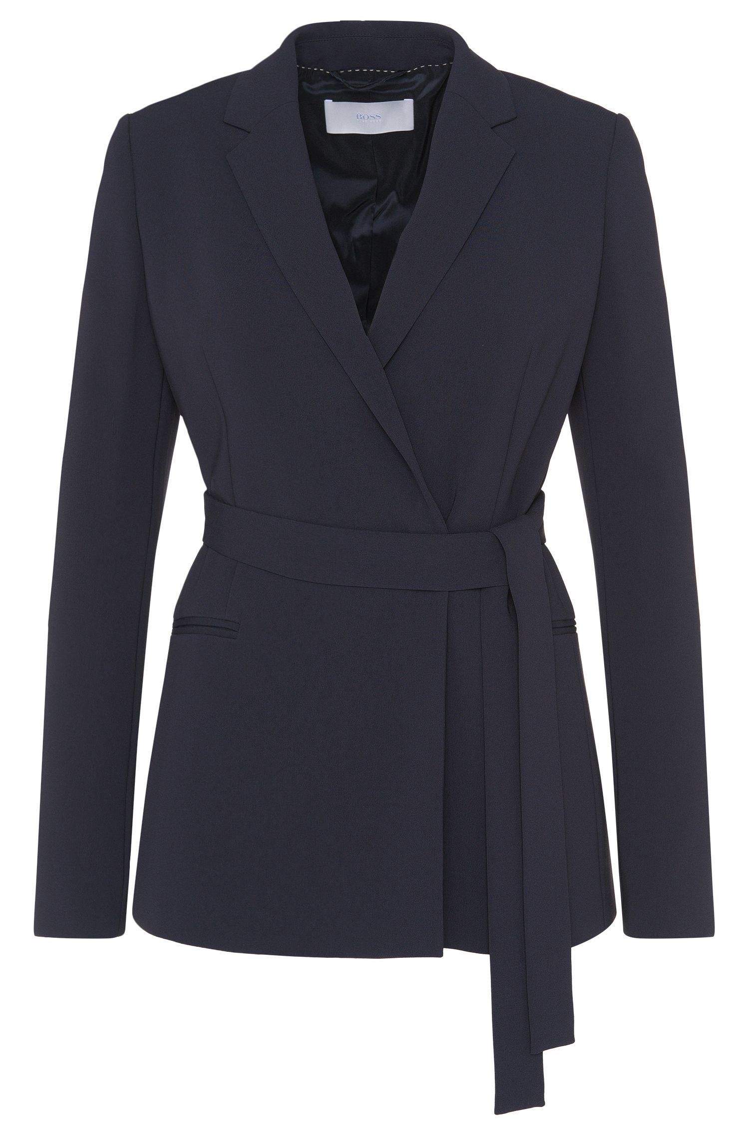 'Jabilta' | Crepe Tie Waist Jacket