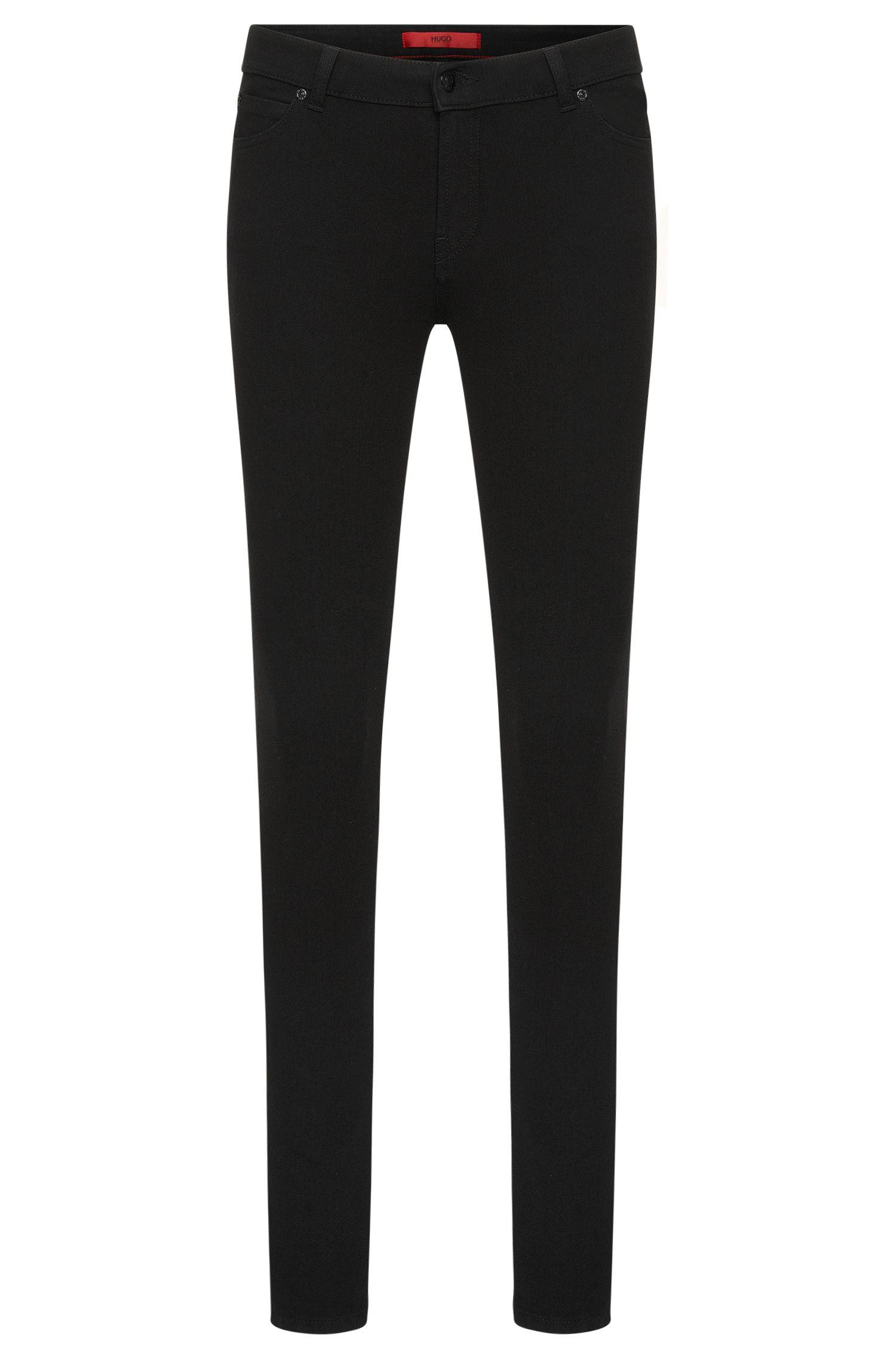 'Georgina' | Stretch Cotton Blend Mid-Rise Skinny Jeans