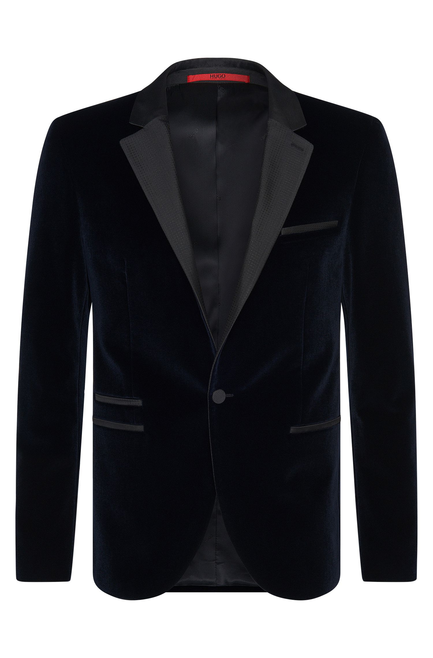 'Aliks' | Extra Slim Fit, Cotton Silk Velvet Tuxedo Jacket
