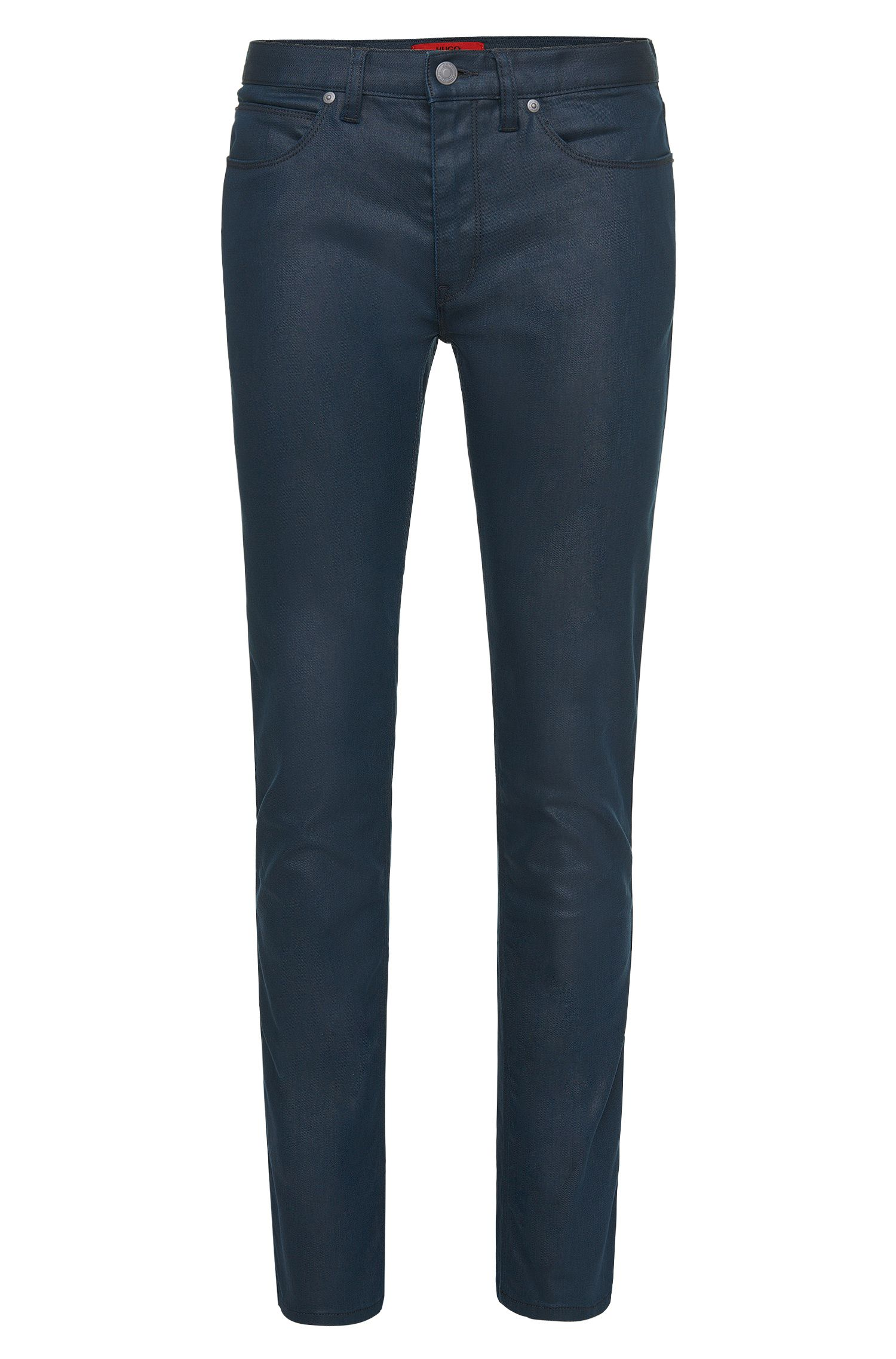 'HUGO 708' | Slim Fit, 9.5 oz Cotton Blend Coated Japanese Denim Jeans