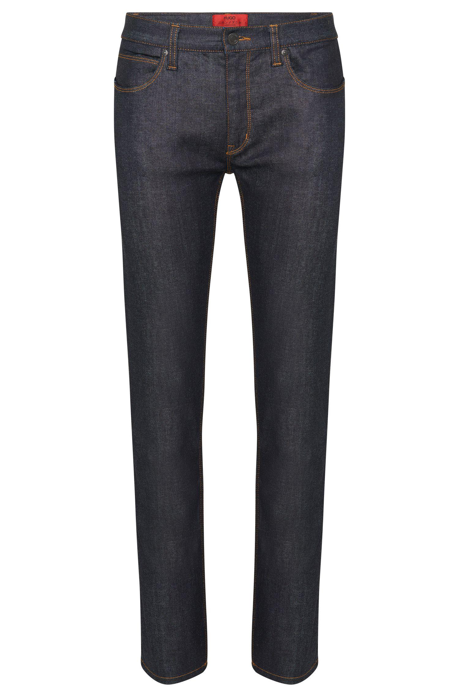 'HUGO 708' | Slim Fit, 10 oz Stretch Cotton Japanese Denim Jeans