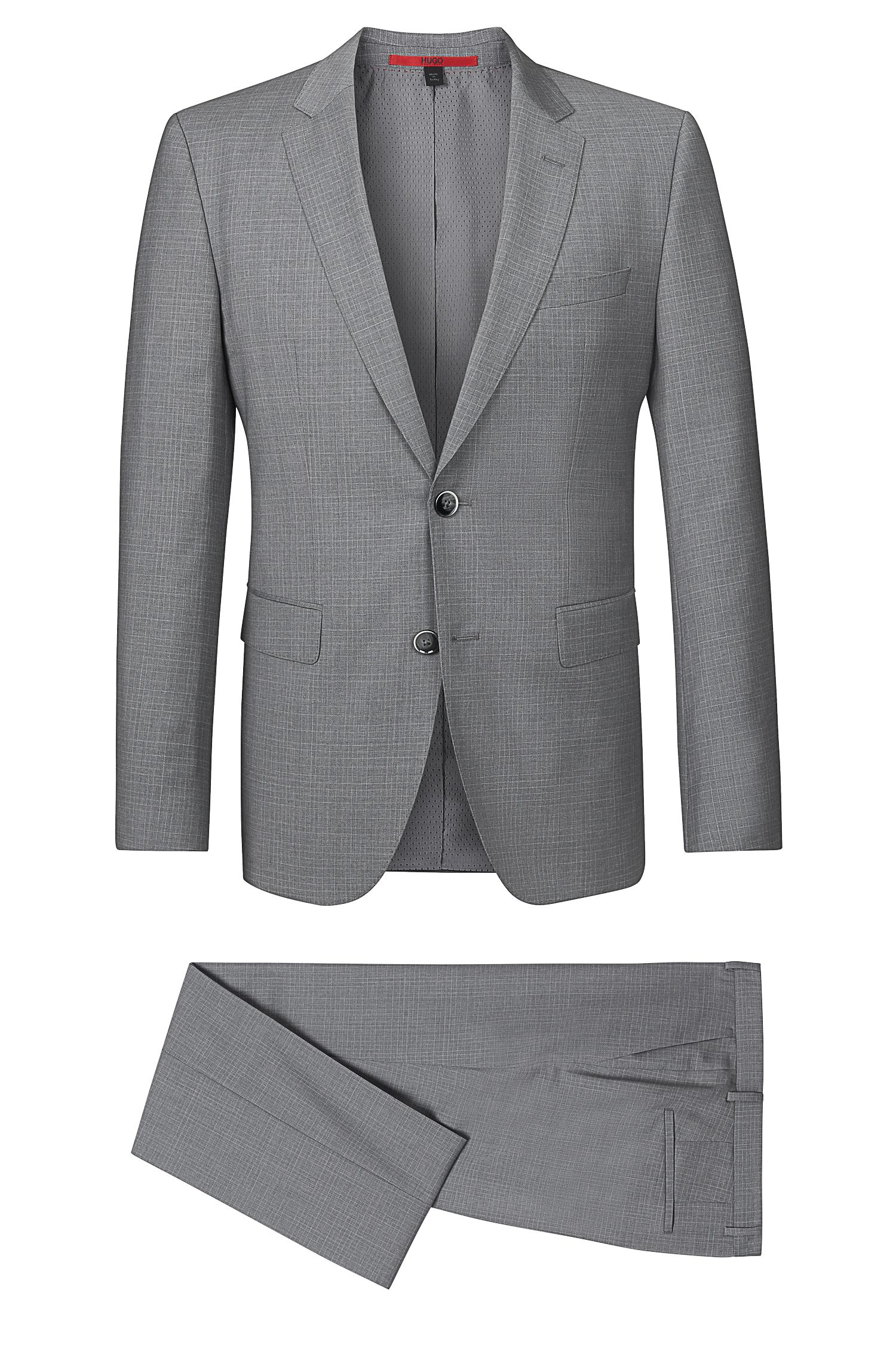 'C Jays/C Shaft' | Slim Fit, Virgin Wool Checked Suit