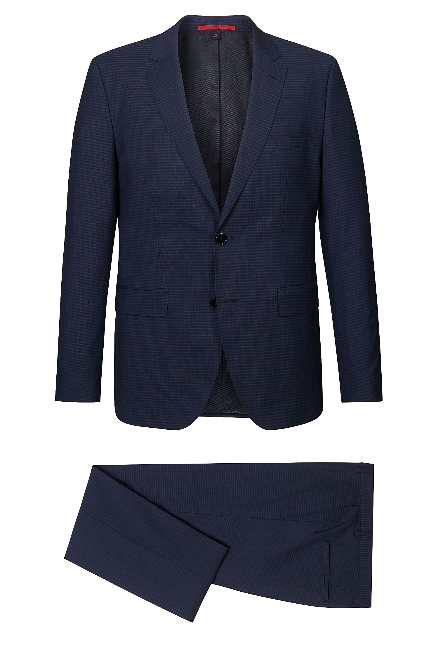 'C Jeffrey/C Simmons' | Slim Fit, Virgin Wool Checked Suit