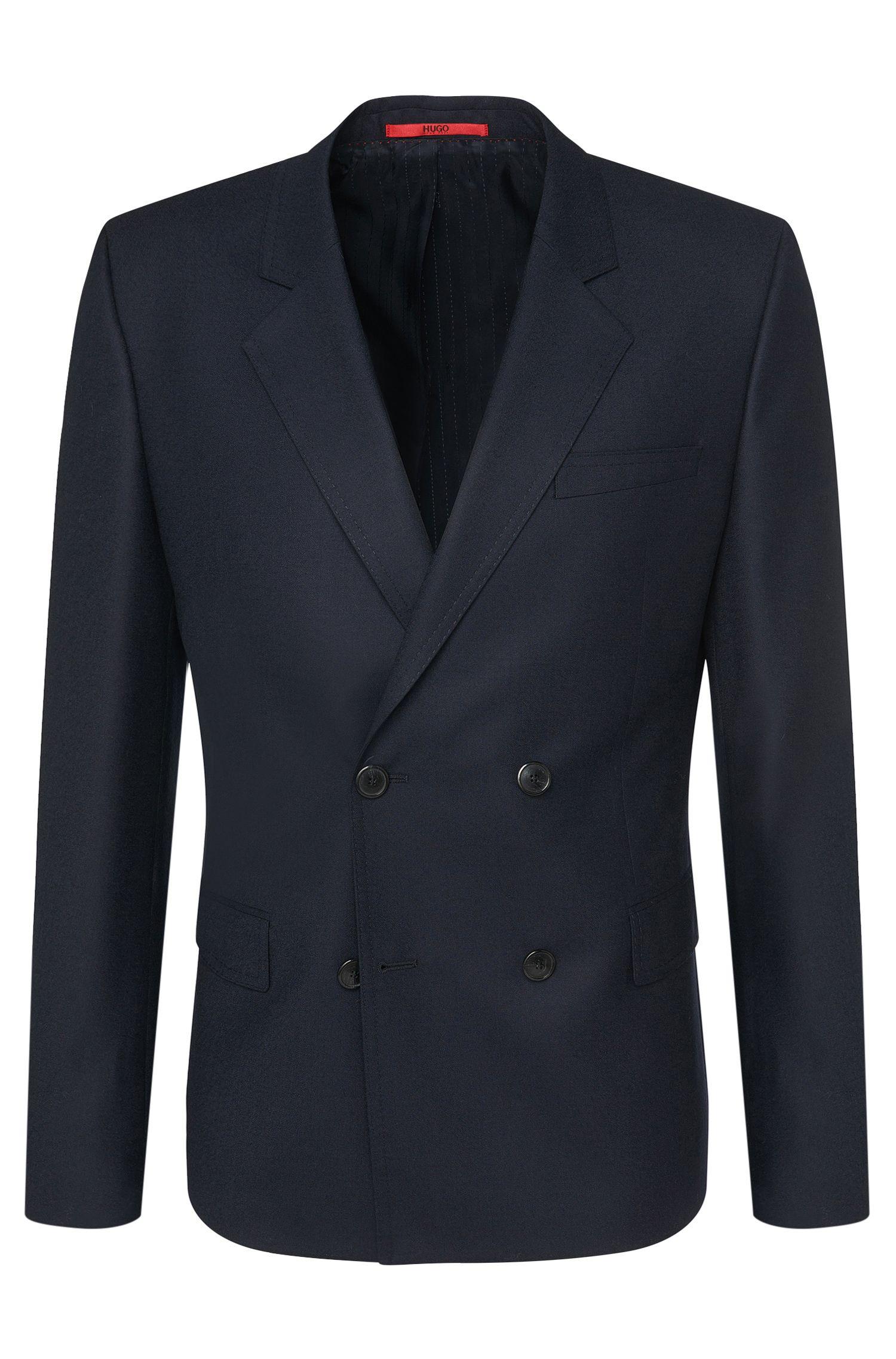'Andru' | Slim Fit, Virgin Wool Double Breasted Sport Coat