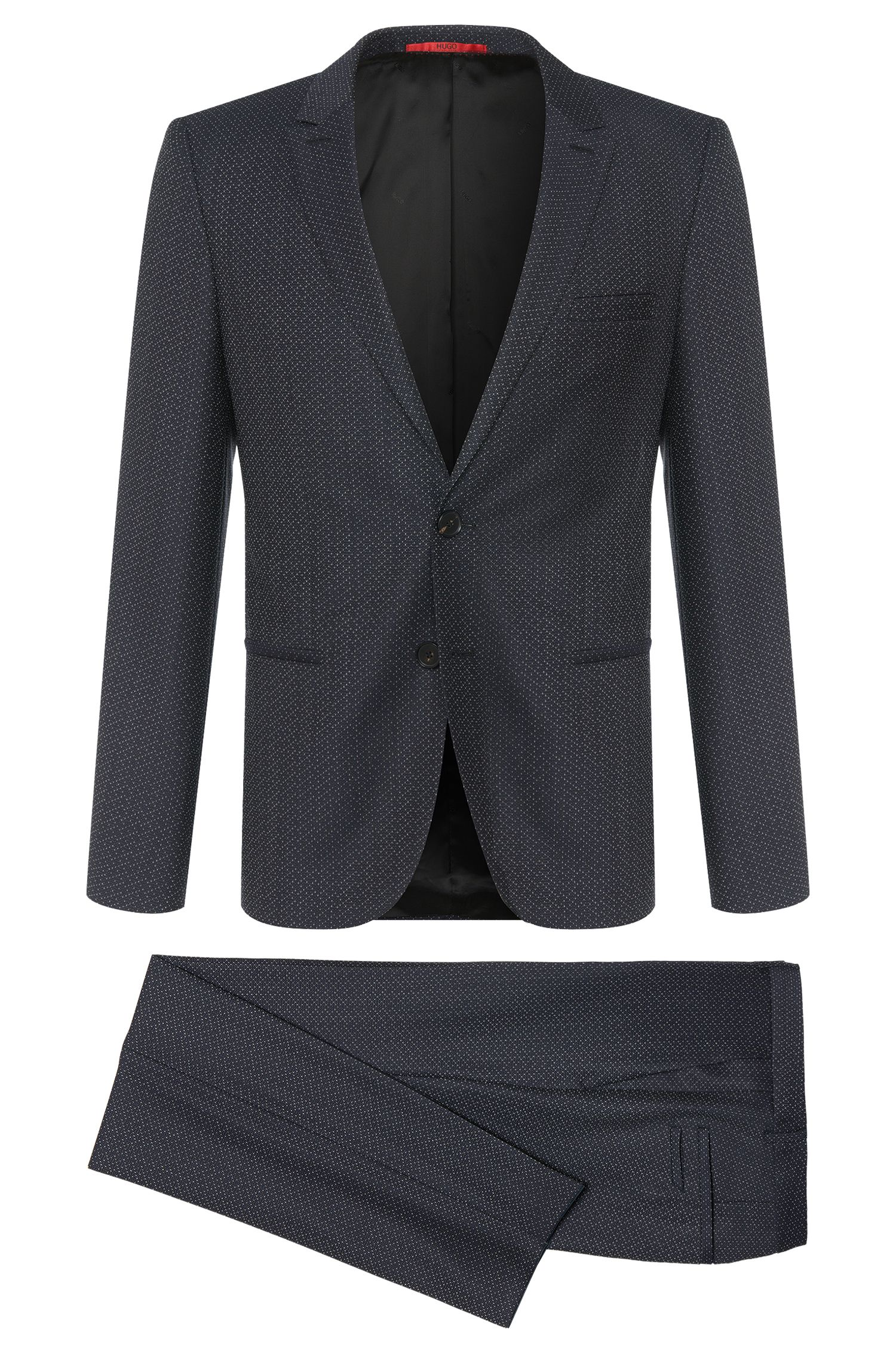 'Adan/Hallins' | Slim Fit, Super 100 Virgin Wool Suit