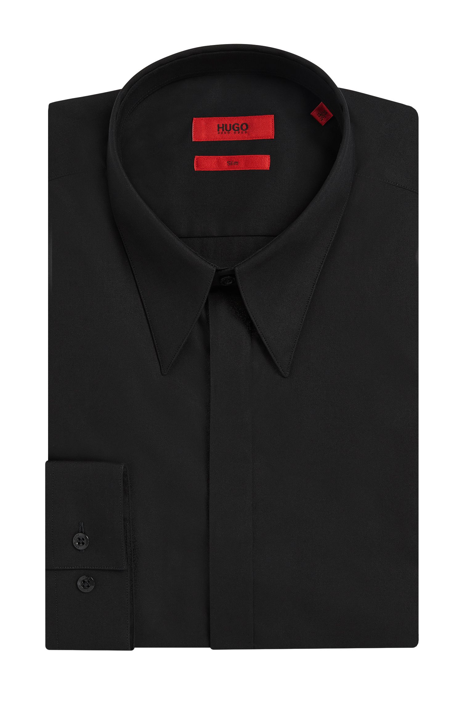 'Enek' | Slim Fit, Stretch Cotton Dress Shirt