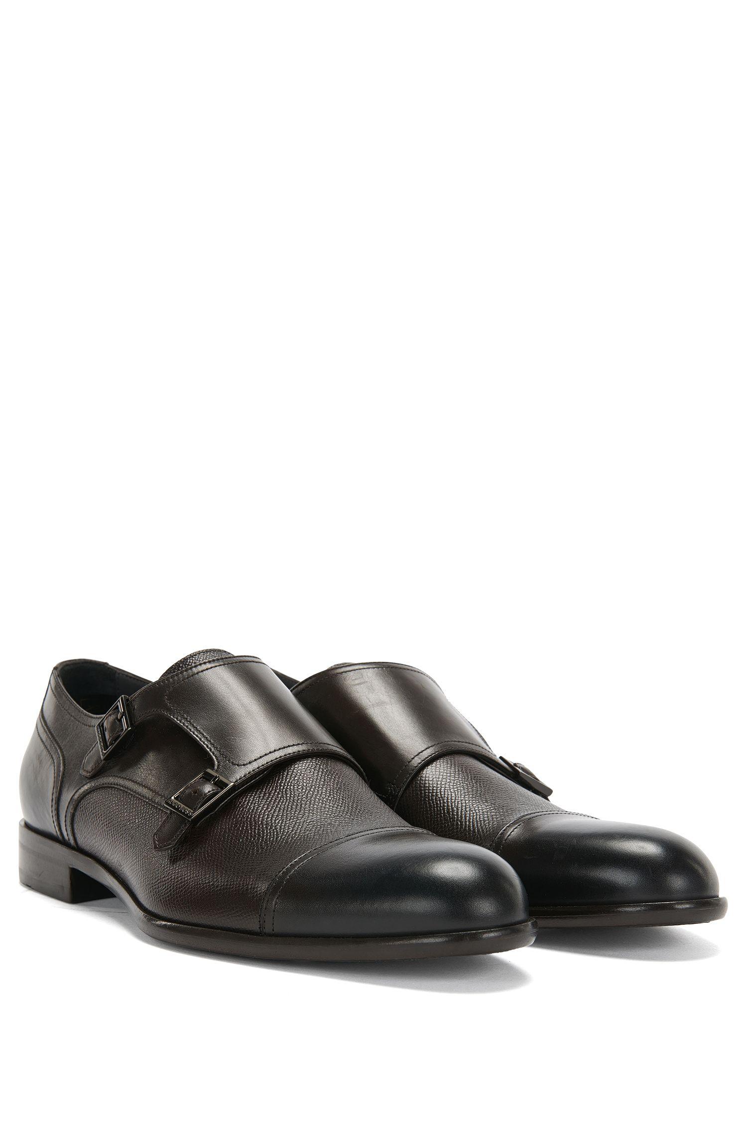 'Manhattan Monk Mxct' | Italian Calfskin Double Monk Strap Dress Shoes