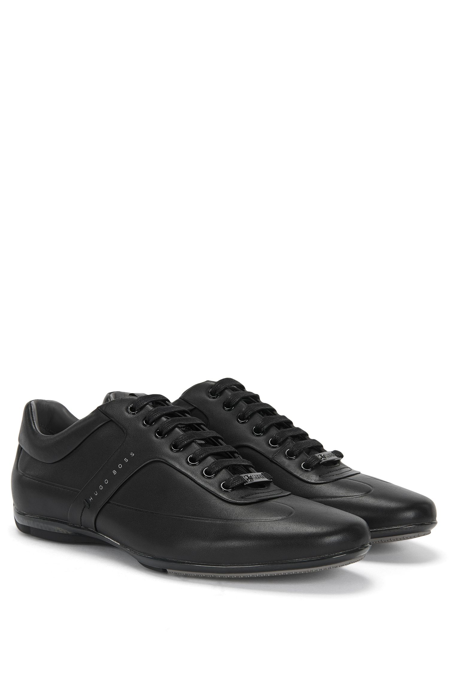 'Sporty_Lowp_lthf' | Calfskin Lace-Up Sneakers