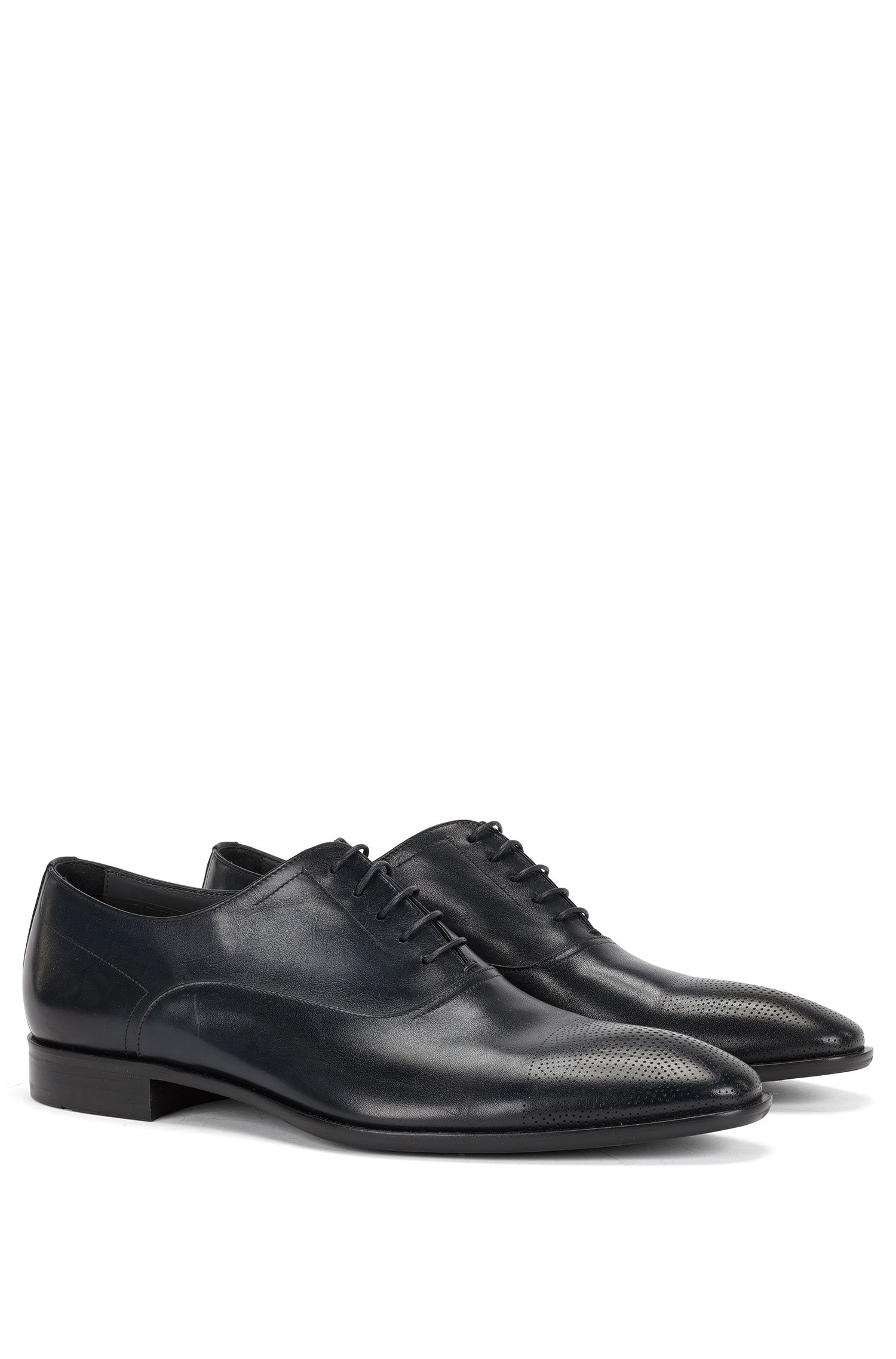 'Chelsea Oxfr ltct' | Italian Leather Oxford Dress Shoes
