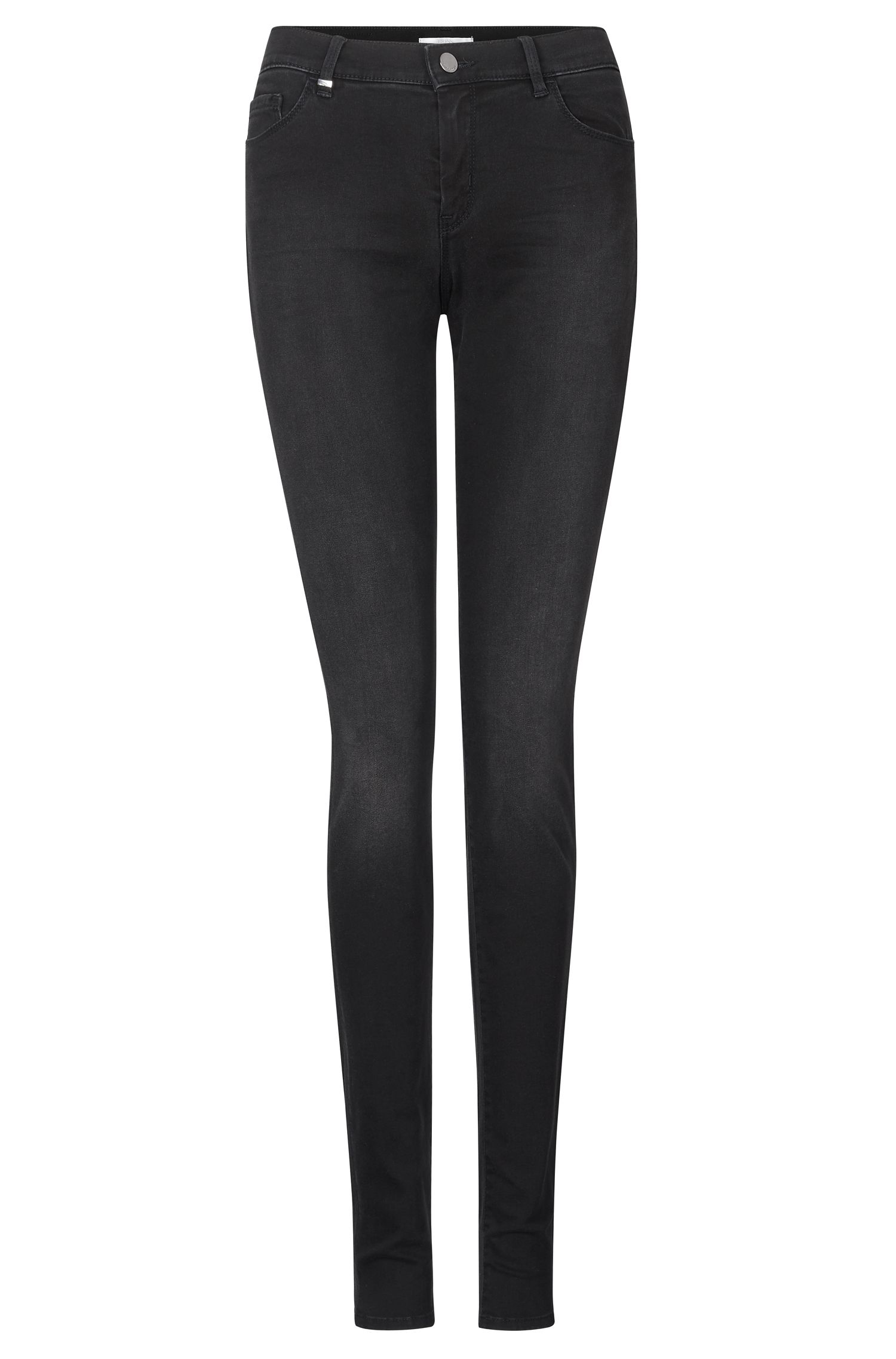 'Nalina' | Stretch Cotton Blend Mid-Rise Jeans