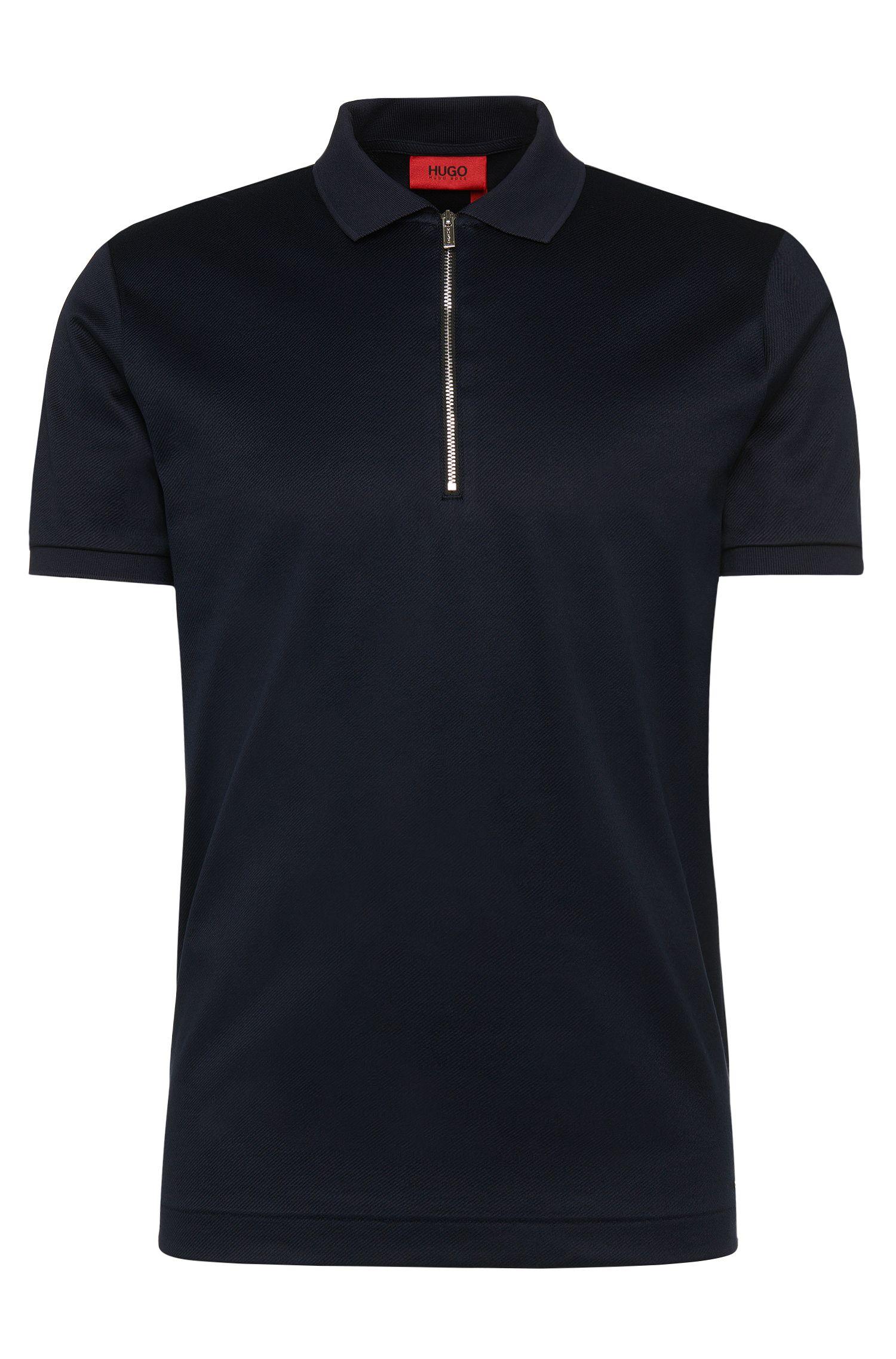 'Digato' | Regular Fit, Mercerized Cotton Twill Polo Shirt