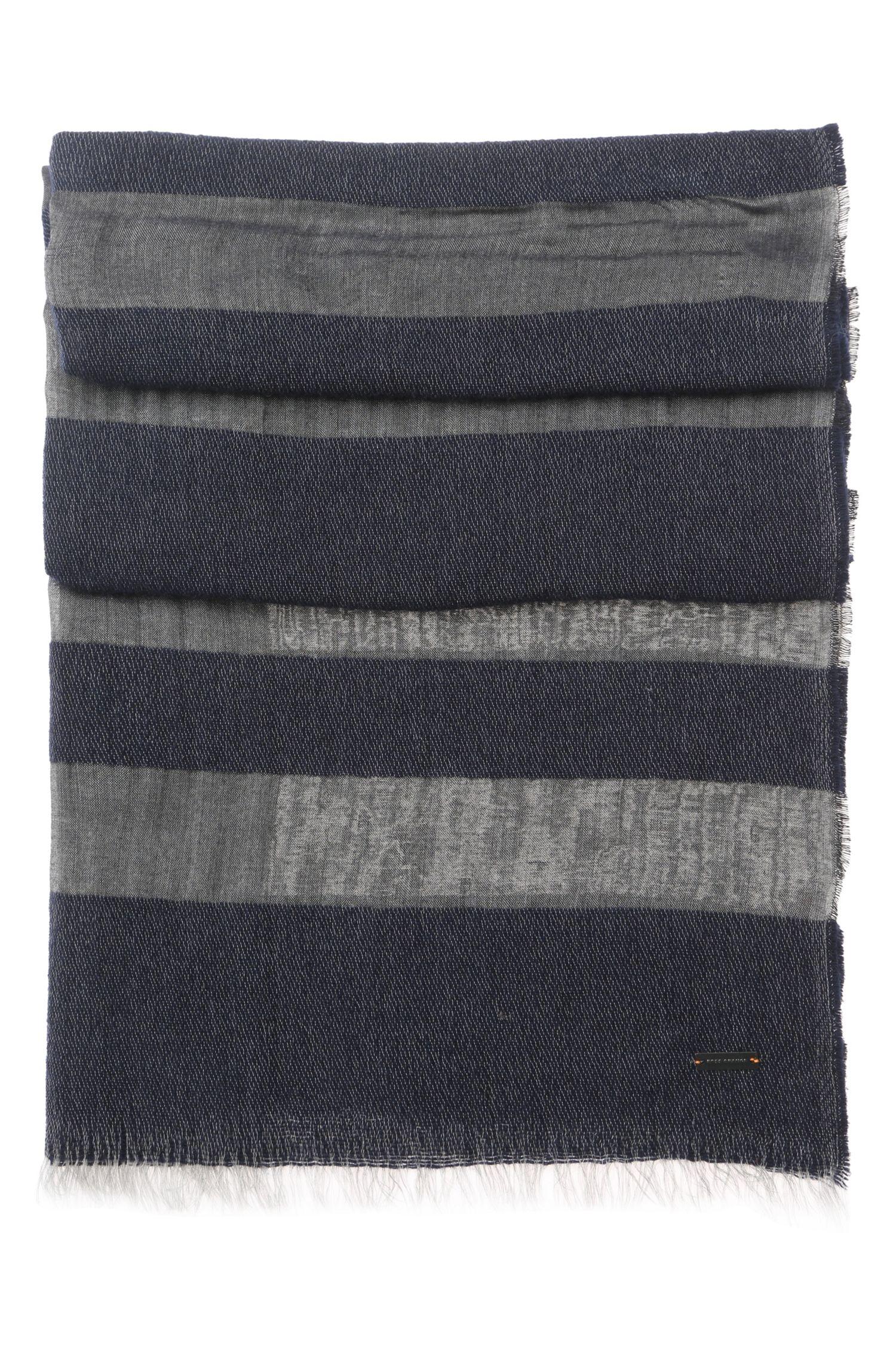 'Nies' | Wool Modal Blend Boucle Stripe Scarf