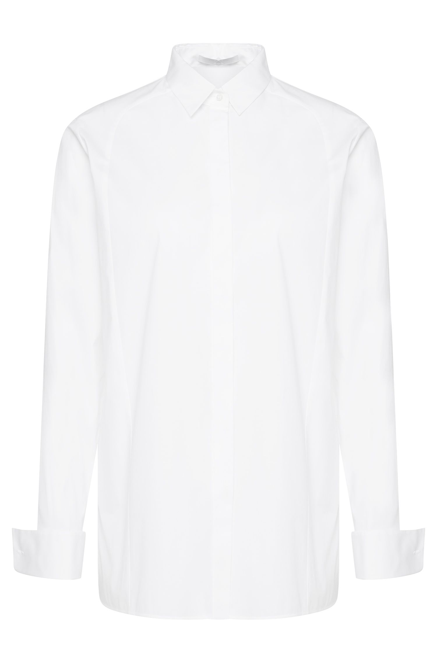 'Betena' | Stretch Cotton French Cuff Button Down Shirt