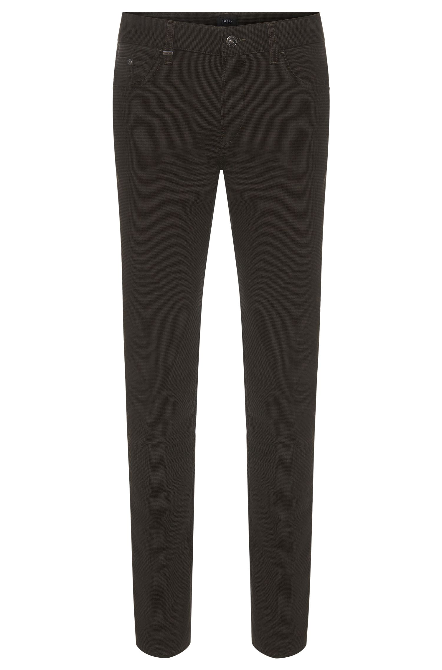 'Delaware' | Slim Fit, 10.5 oz Stretch Cotton Textured Trousers