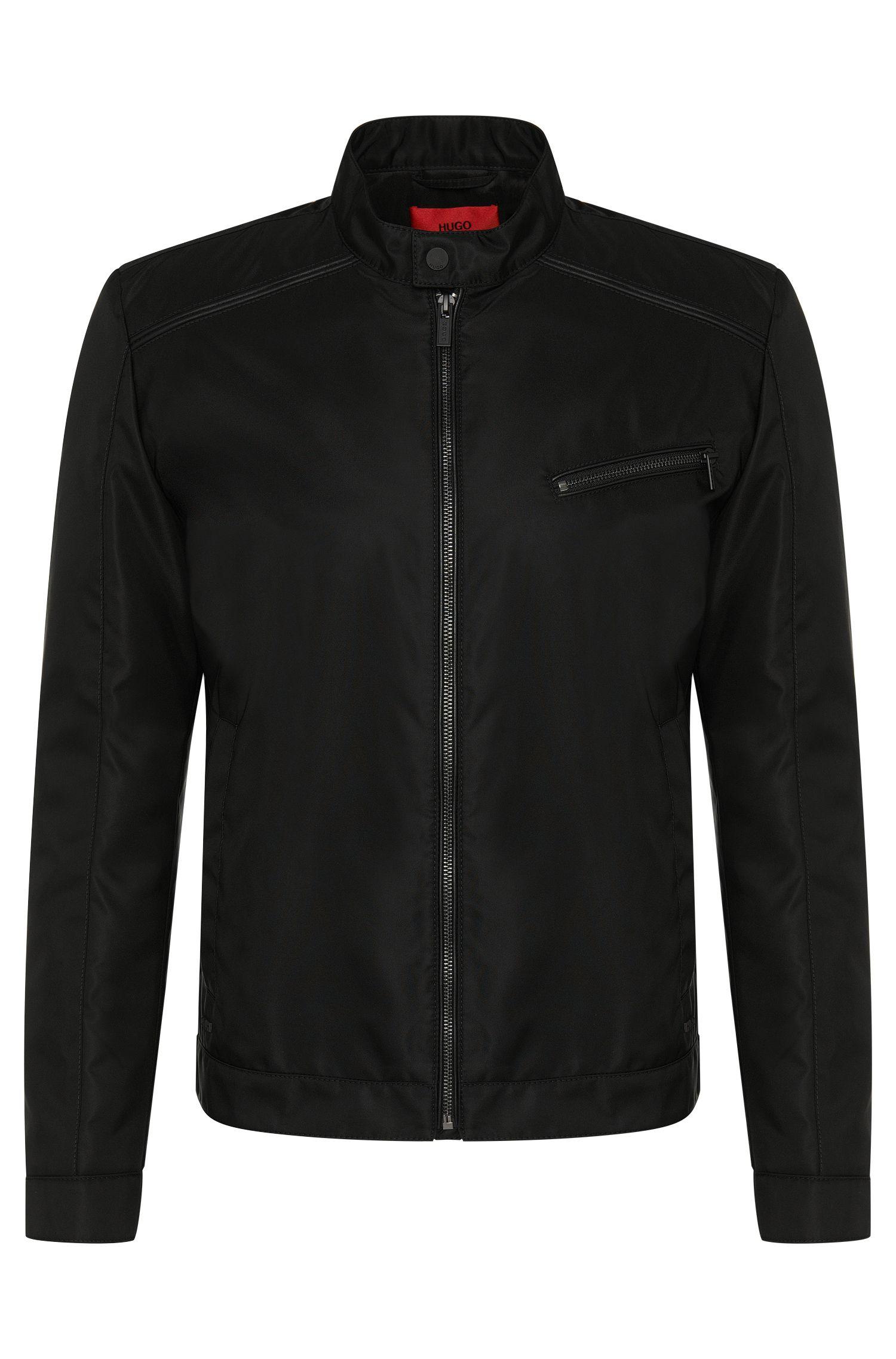 'Bandro' | Nylon Vegan-Leather Biker Jacket