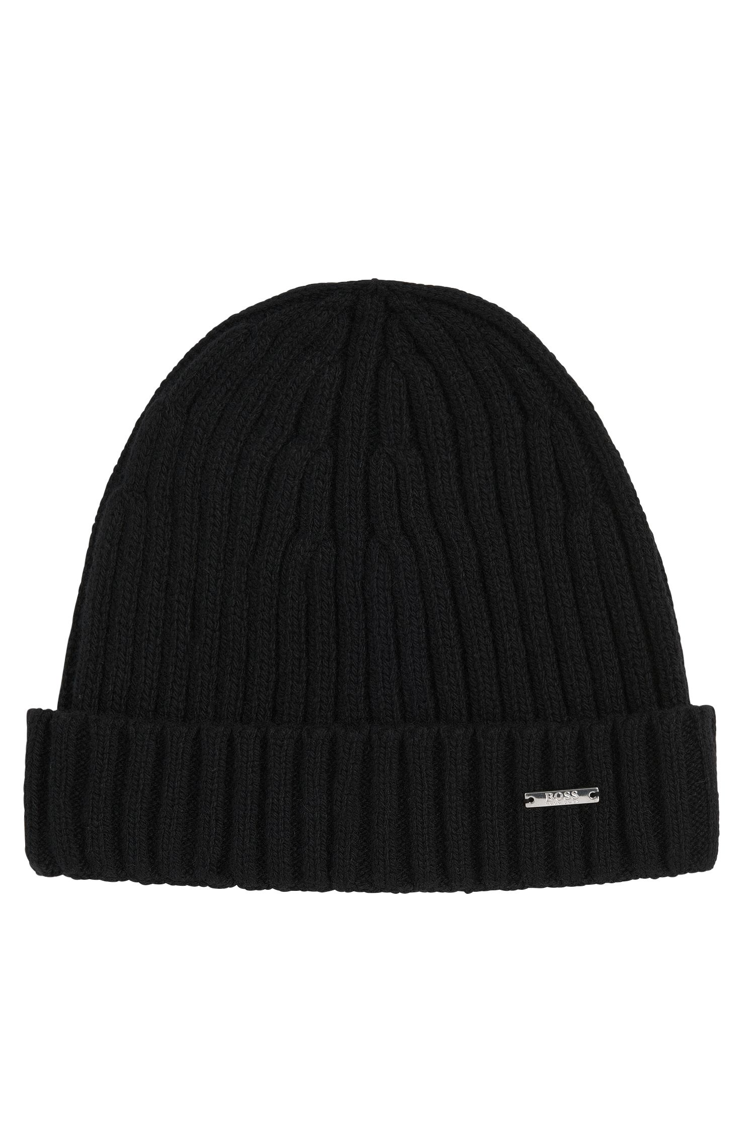 'T-Benzo' | Cashmere Wool Ribbed Beanie Cap