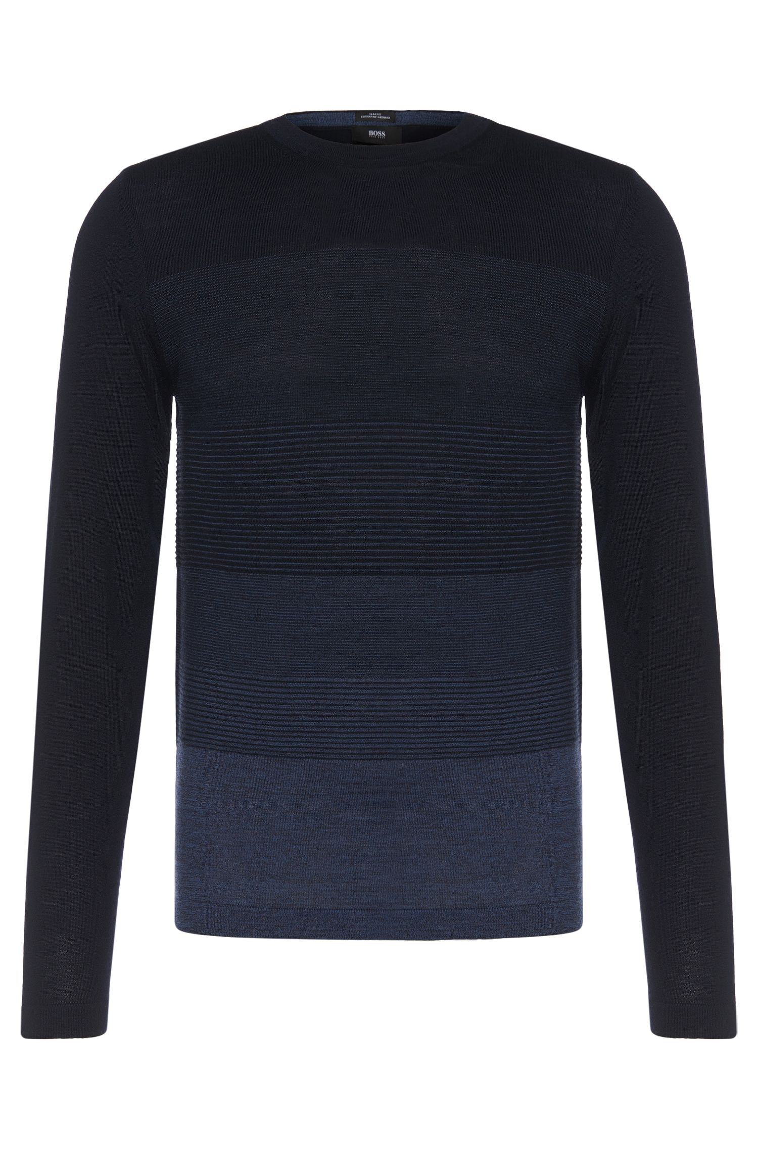 'Balasco' | Virgin Wool Ombre-Stripe Sweater