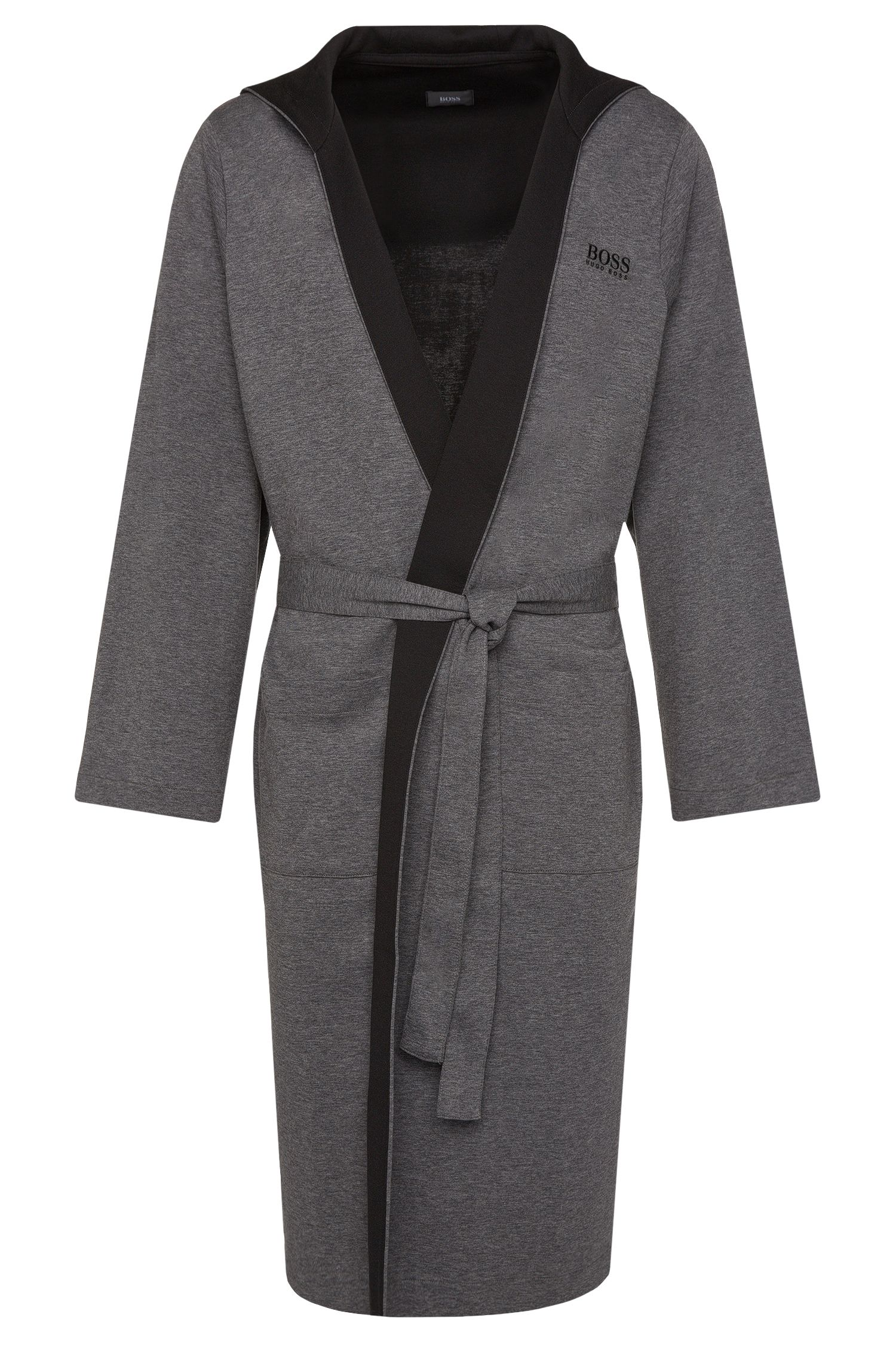 'Hooded Robe' | Cotton Blend Hooded Belted Robe
