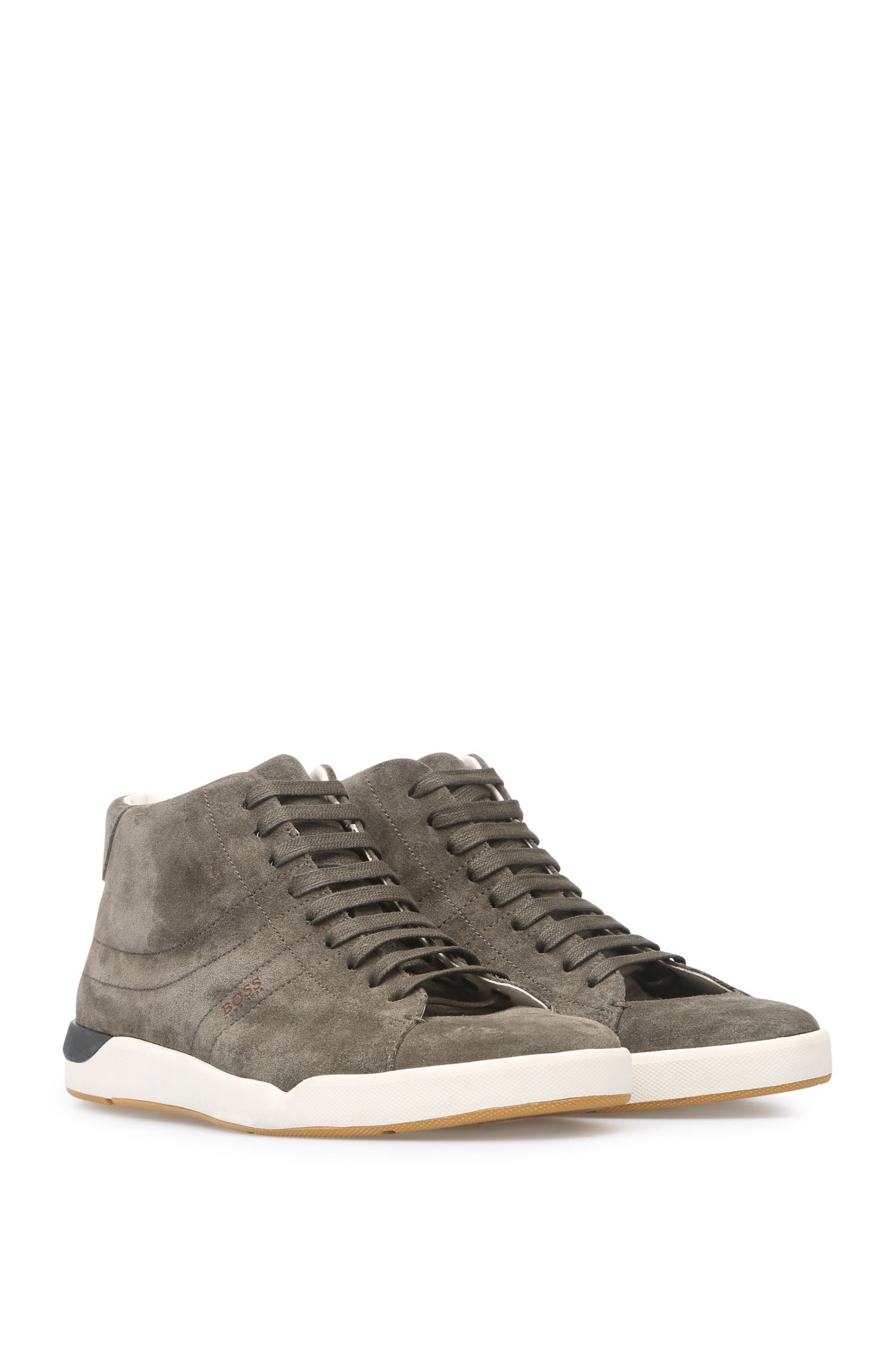 'Stillnes Midc Sd' | Suede Calfskin Mid Top Sneakers