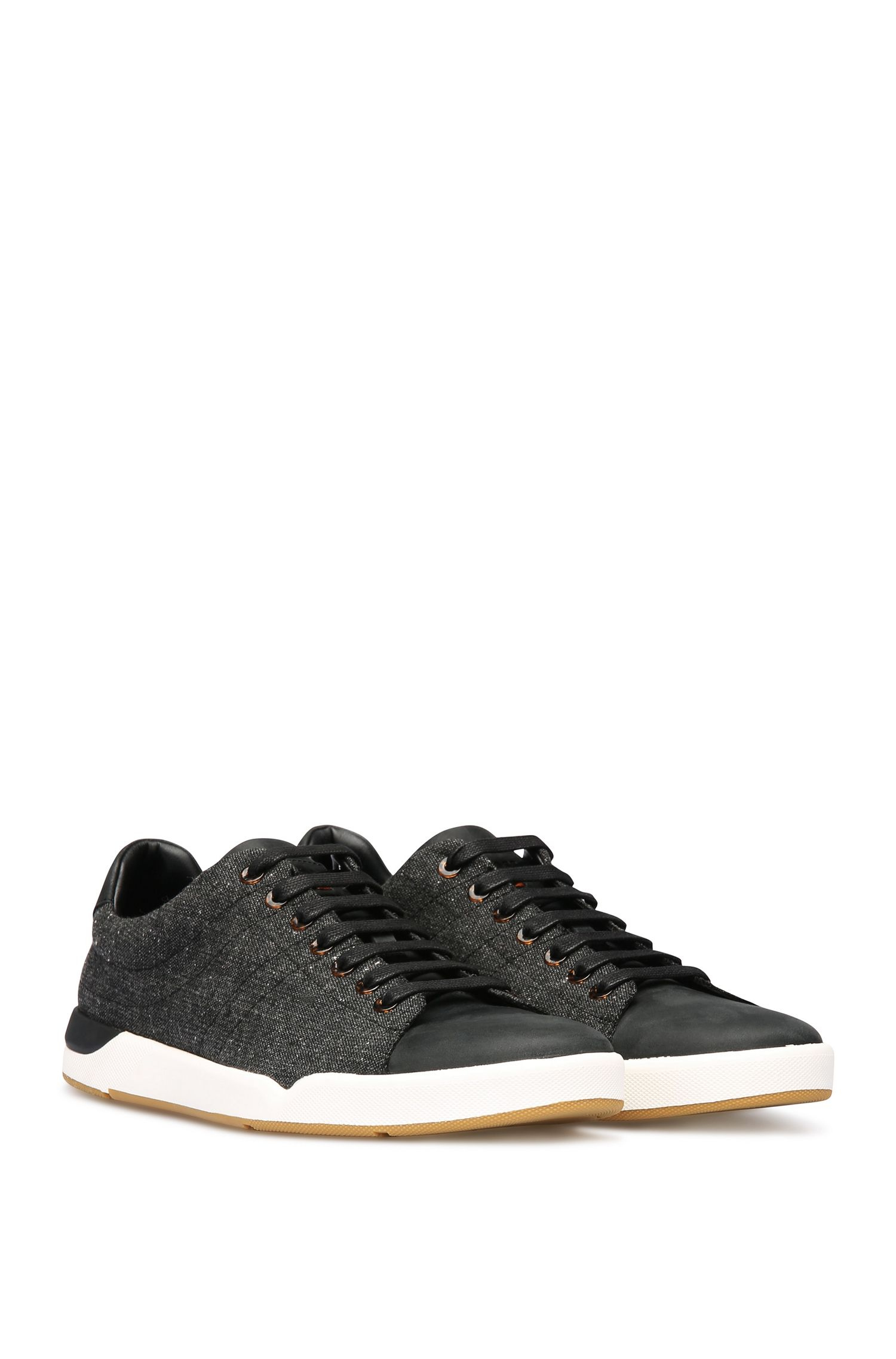 'Stillness Tenn Tw' | Tweed Leather Sneakers