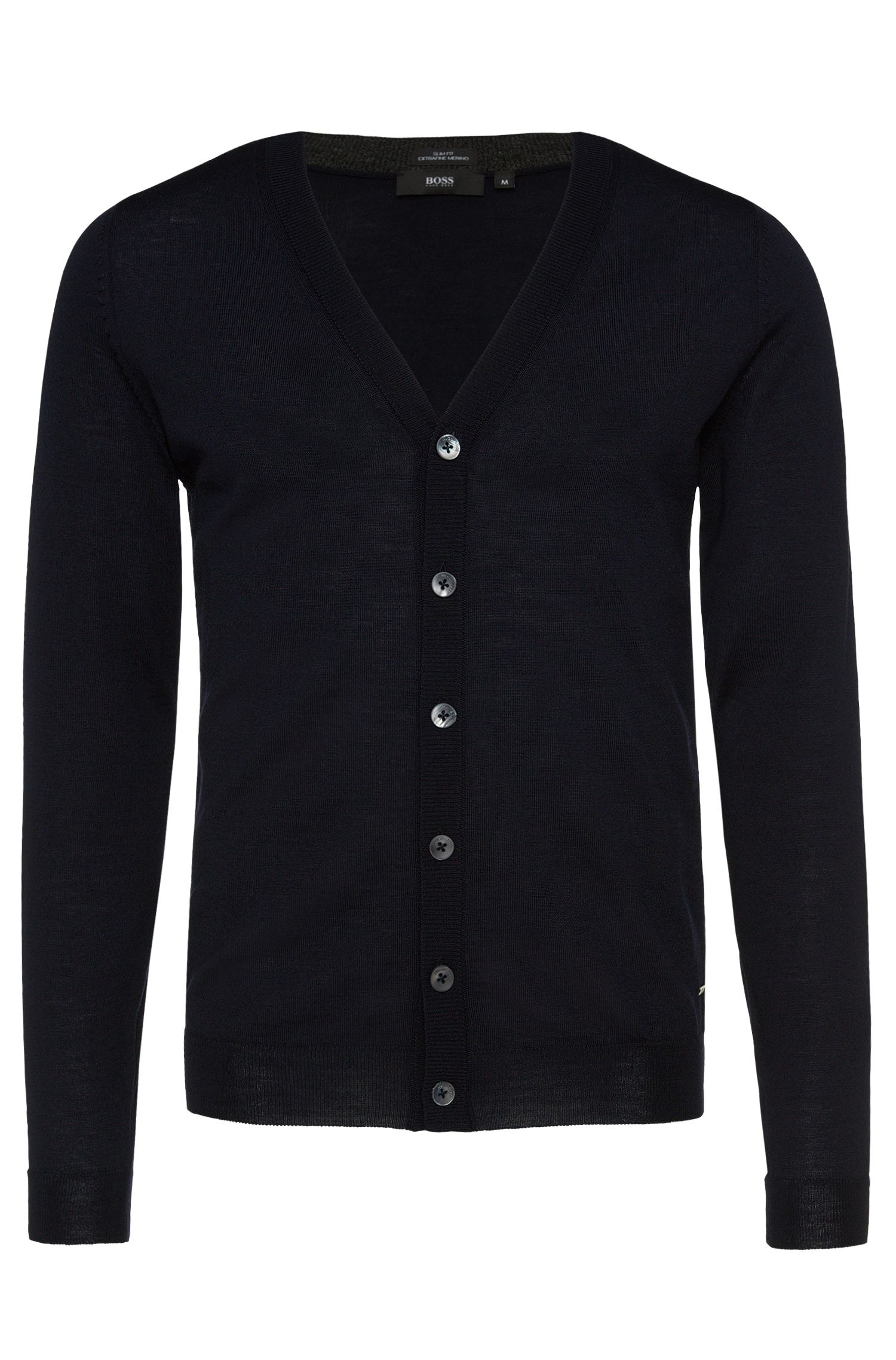 'Mardon B' | Virgin Wool V-Neck Cardigan