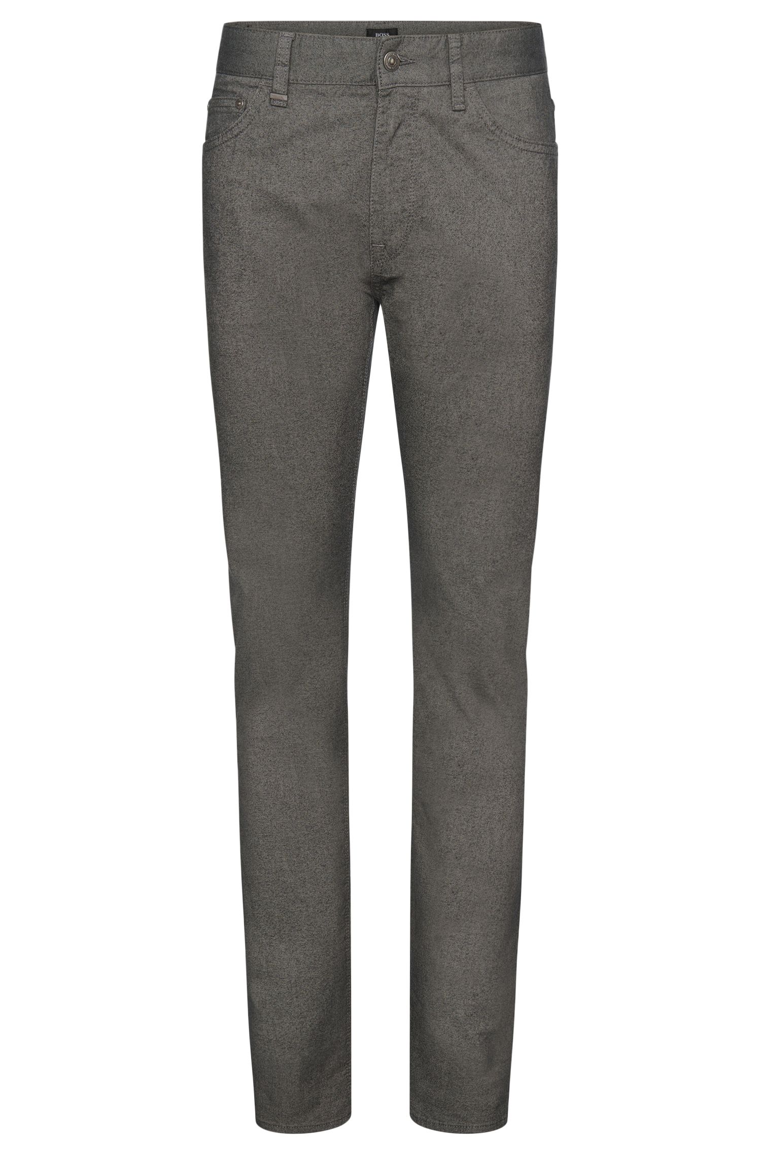'Maine' | Regular Fit, Stretch Cotton Flannel Trousers