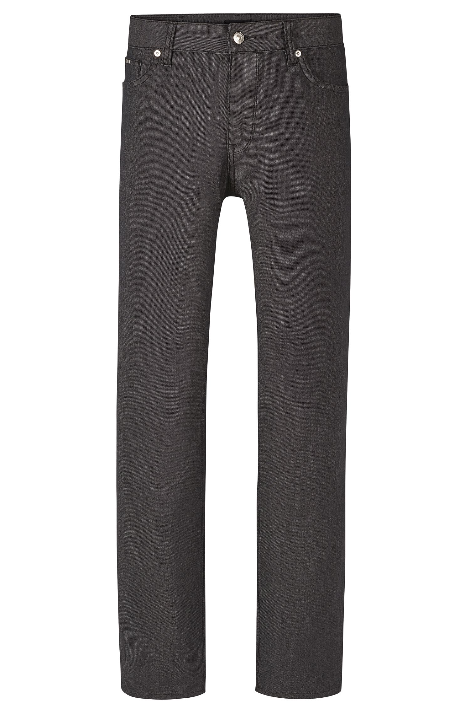 'Maine' | Regular Fit, Stretch Cotton Blend Pinpoint Trousers