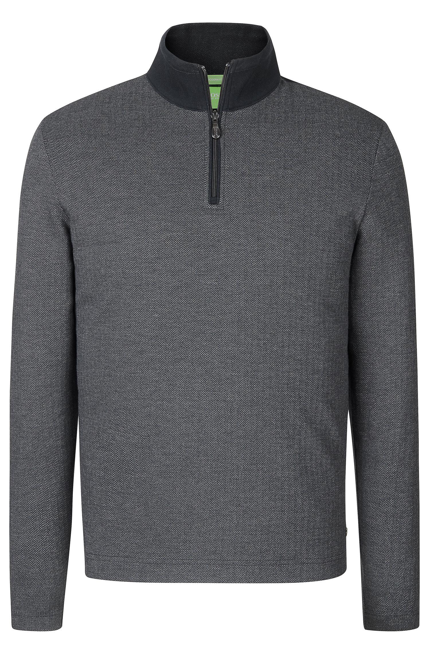 'C-Piceno' | Cotton Herringbone Troyer Shirt