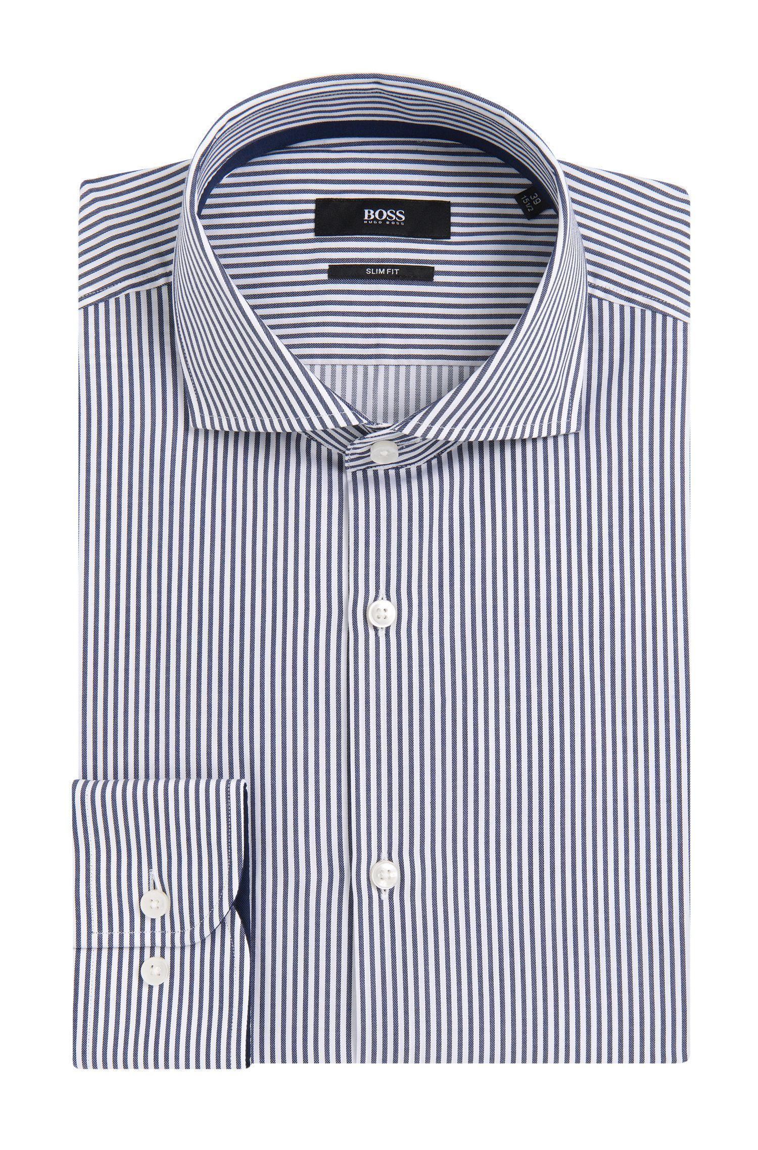 'Jery' | Slim Fit, Cotton Dress Striped Shirt