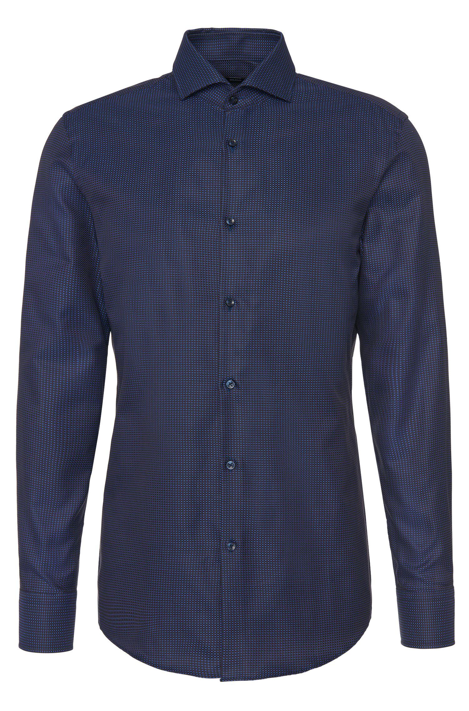'Jason' | Slim Fit, Cotton Textured Dress Shirt