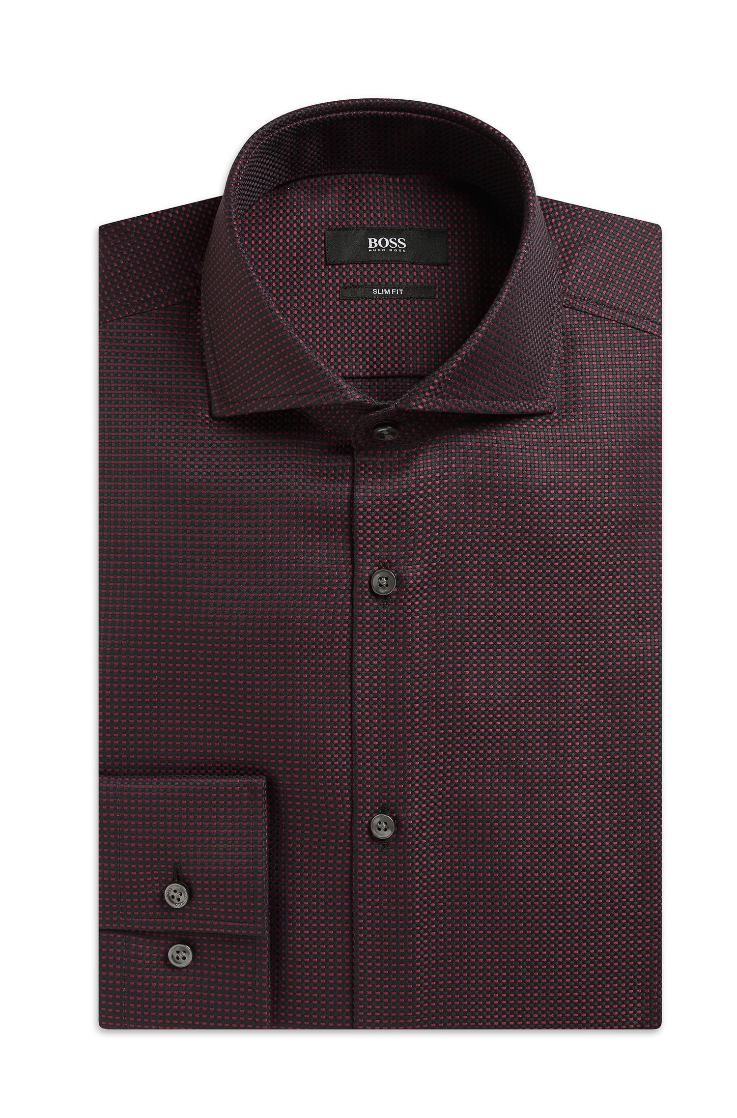 'Jason' | Slim Fit, Cotton Textured Dress Shirt