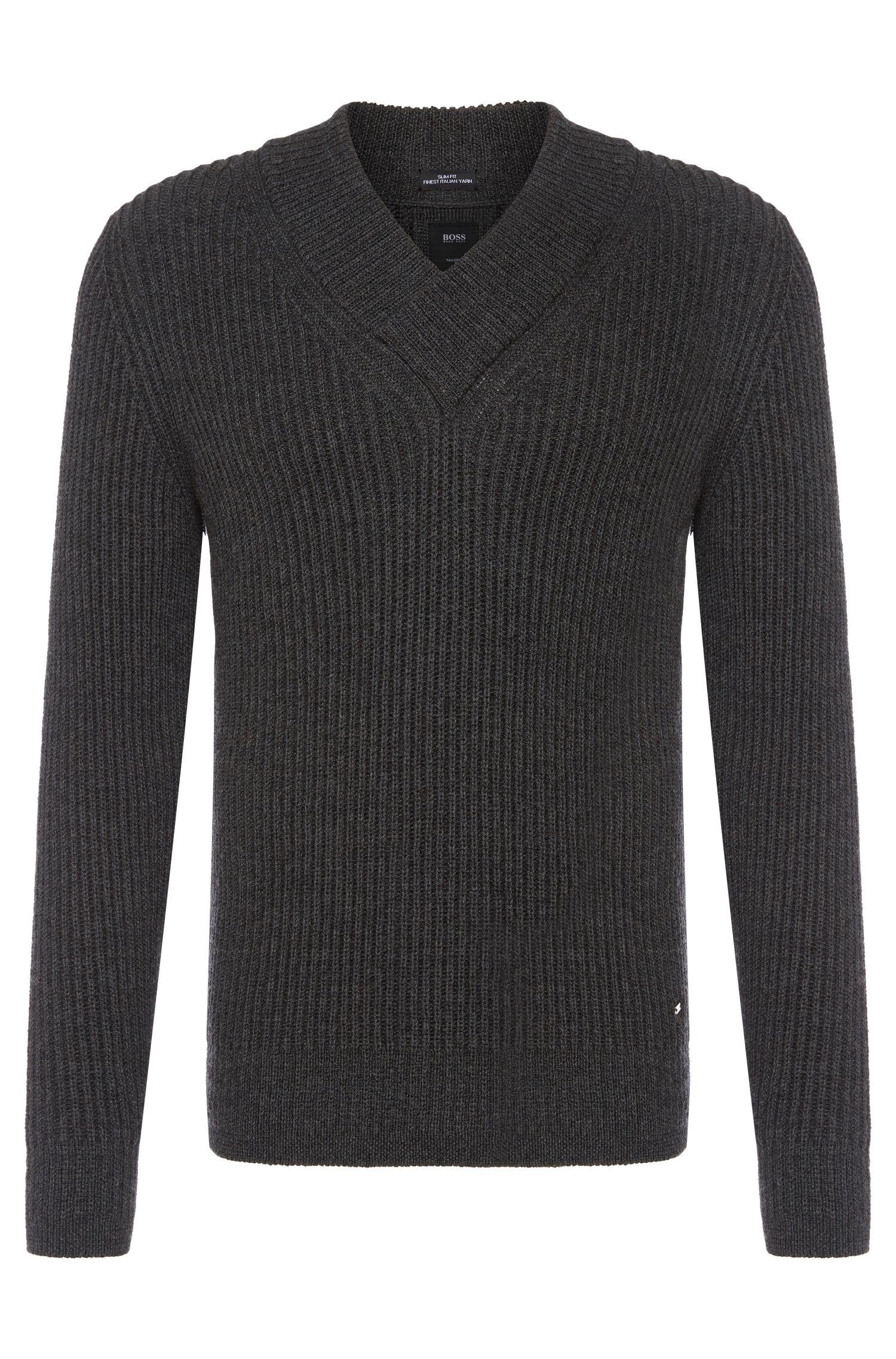 'T-Bressano' | Italian Alpaca Virgin Wool Surplice V-Neck Sweater
