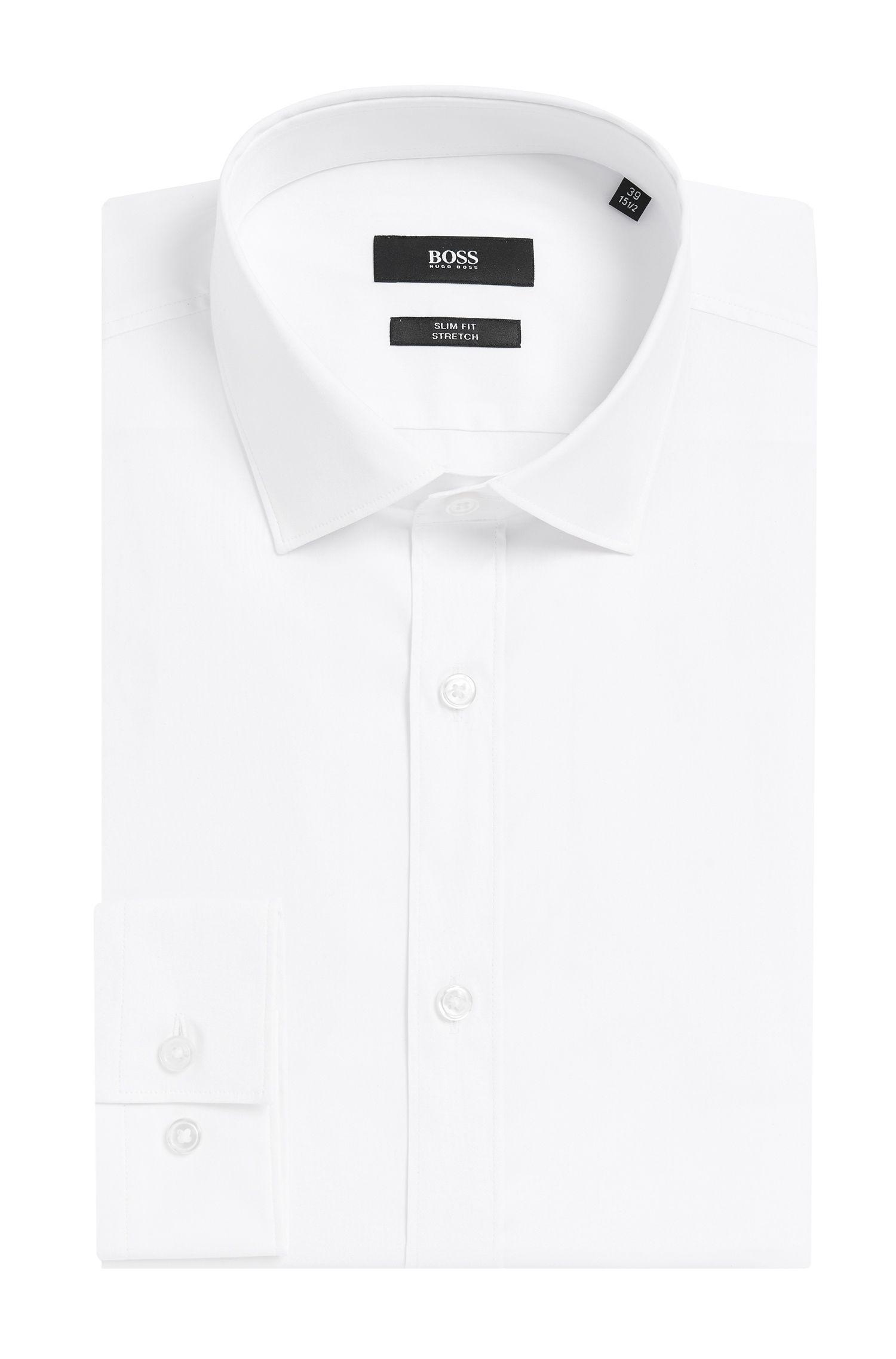 'Isaak' | Slim Fit, Stretch Cotton Blend Dress Shirt