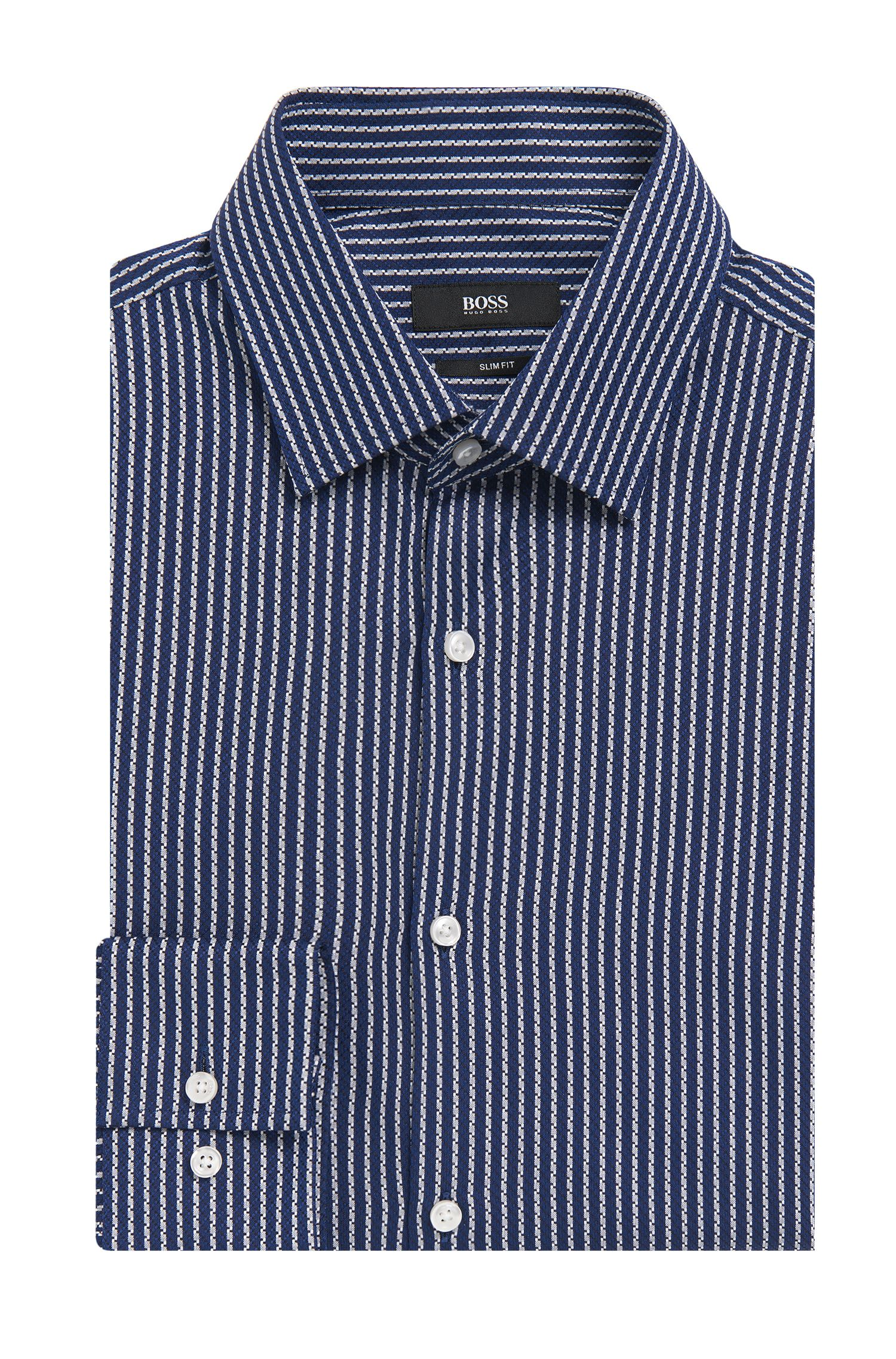 'Jenno' | Slim Fit, Italian Cotton Dress Shirt