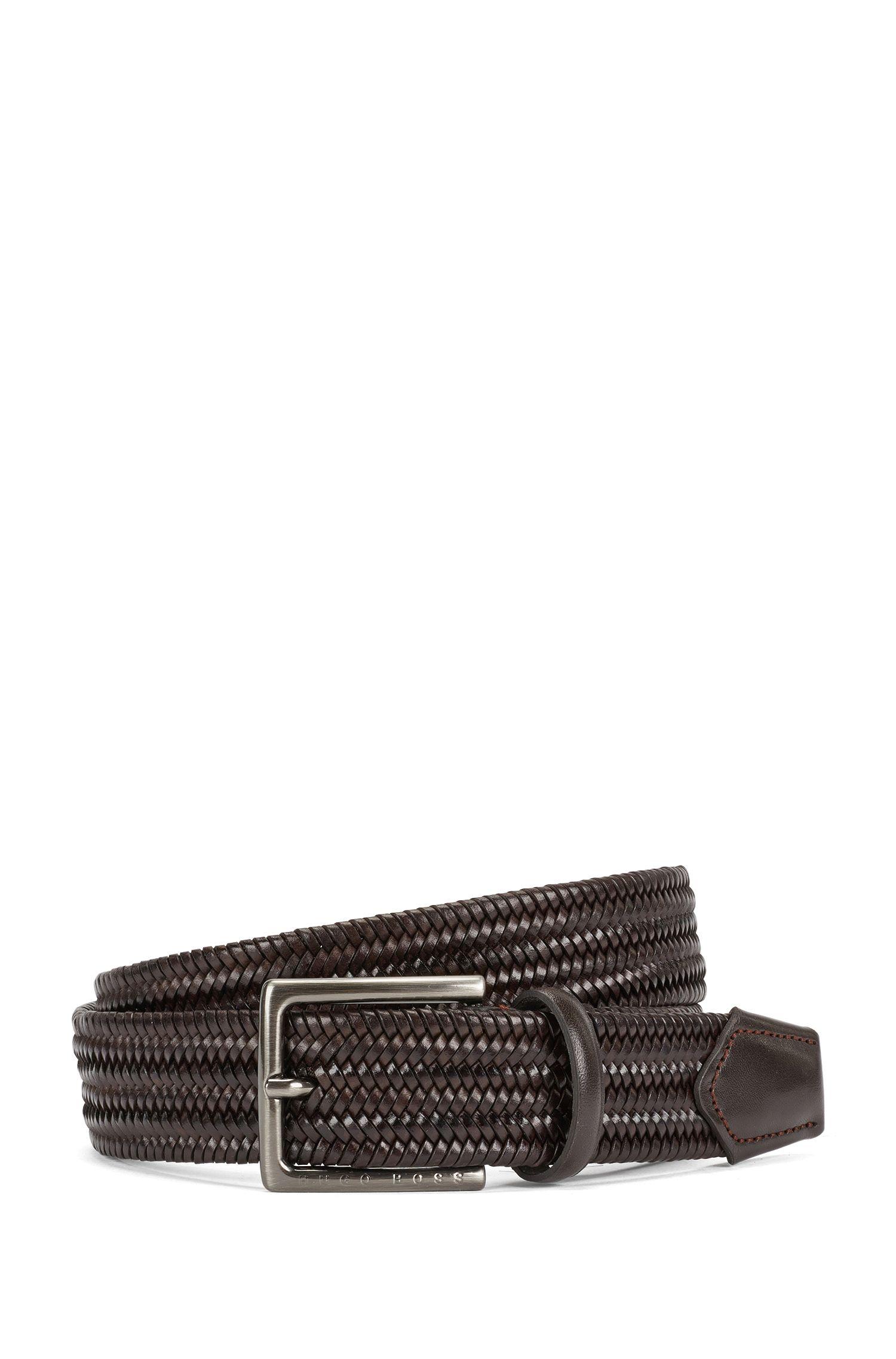 'Semyo Sz35 Mxwn' | Leather Handcrafted Braided Belt