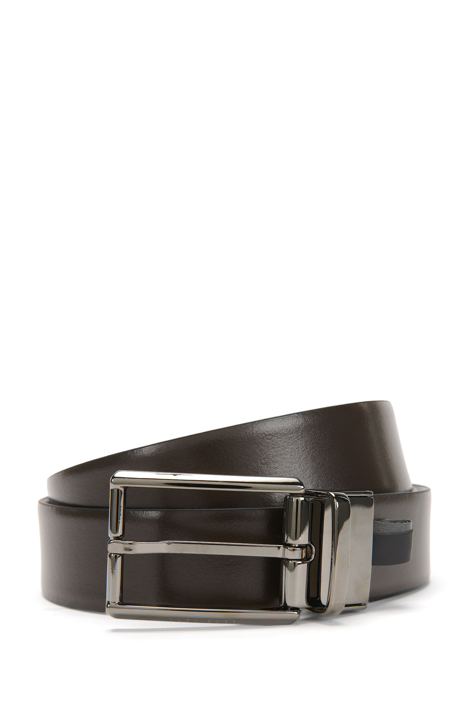 'Omero Or Pp' | Reversible Italian Leather Belt