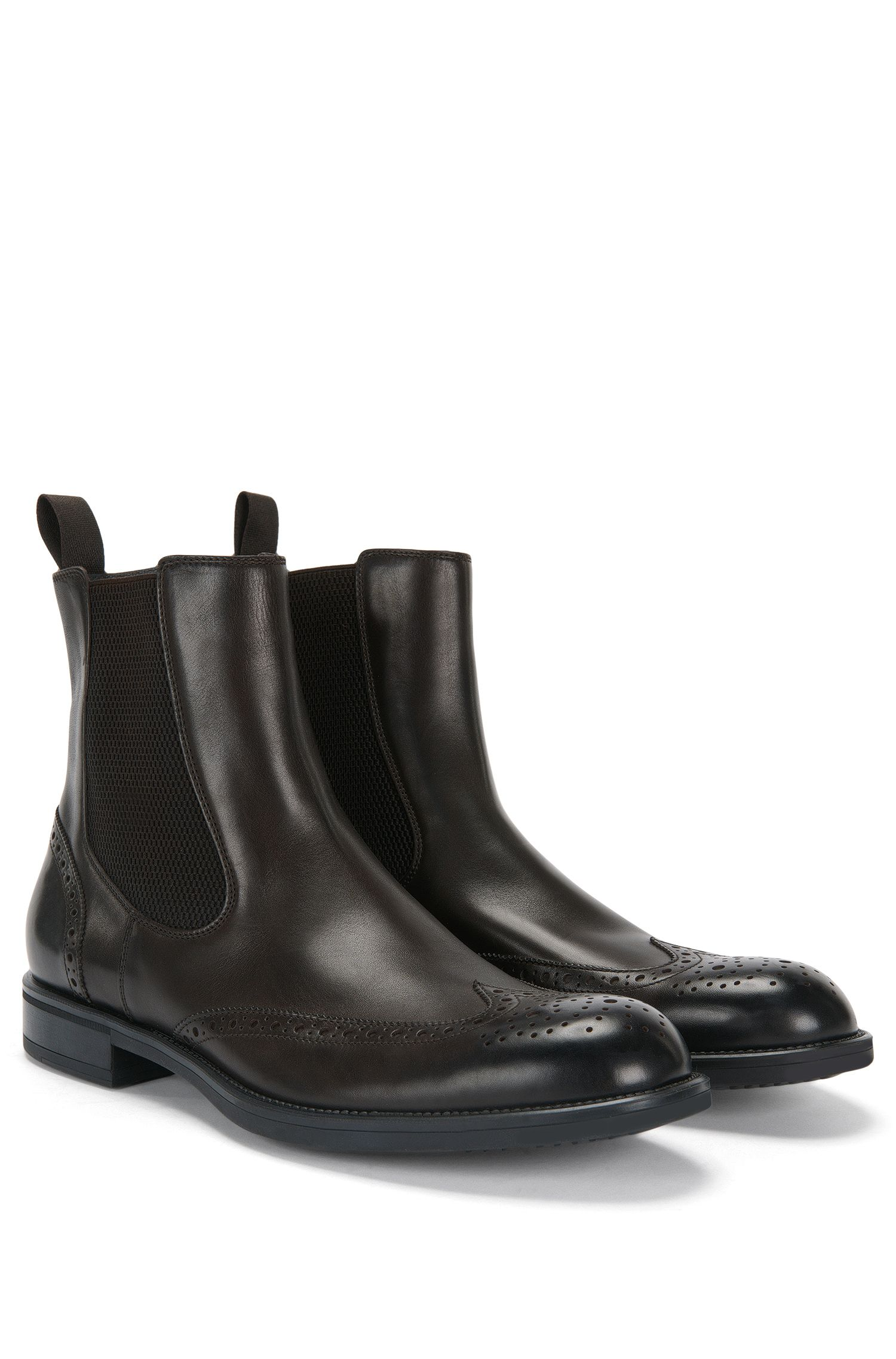 'Kenth Cheb Itwtb' | Italian Calfskin Pull On Brogue Boots