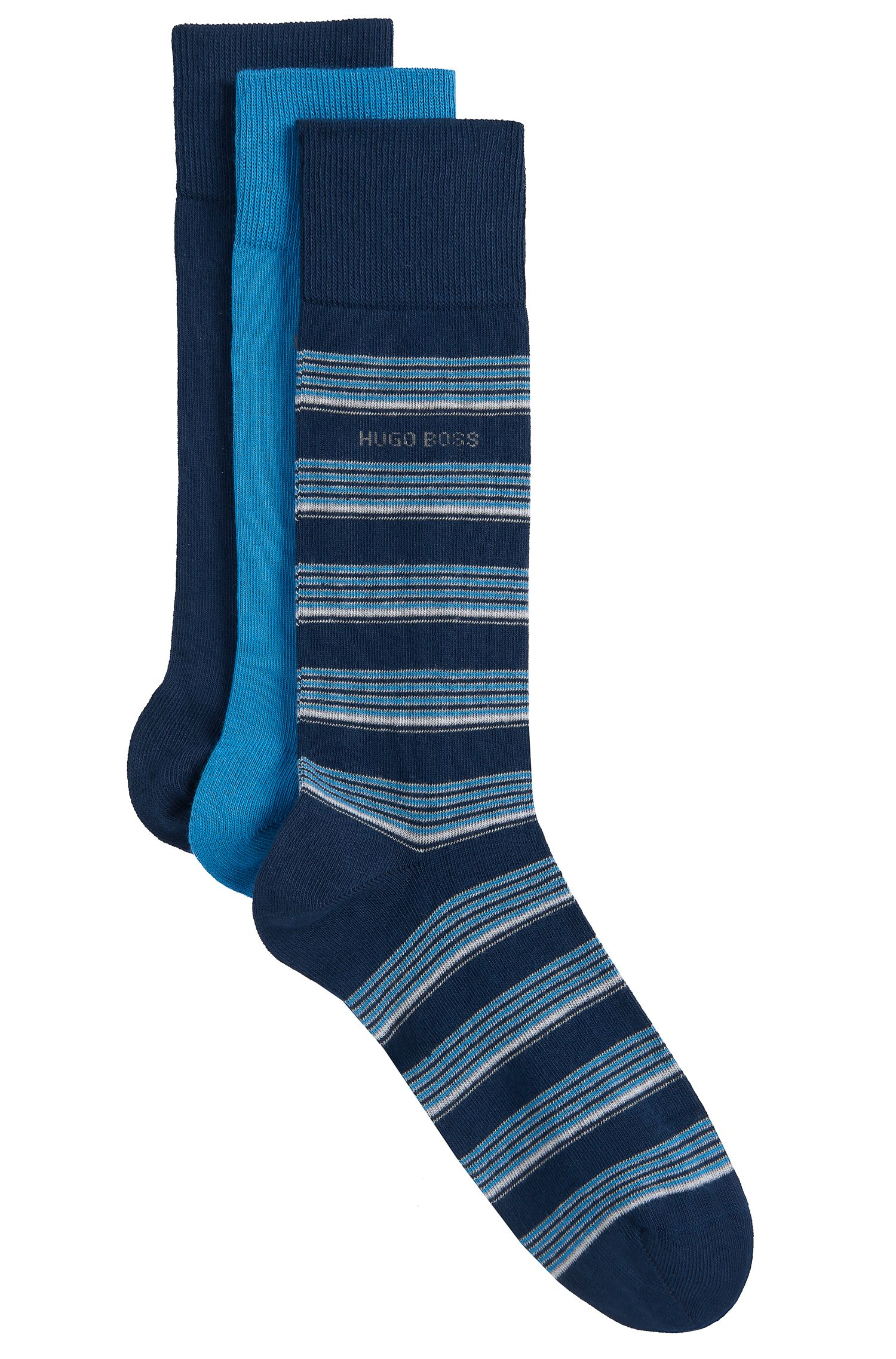 'S Design Box Us'   Stretch Cotton Blend Socks, 3 Pack