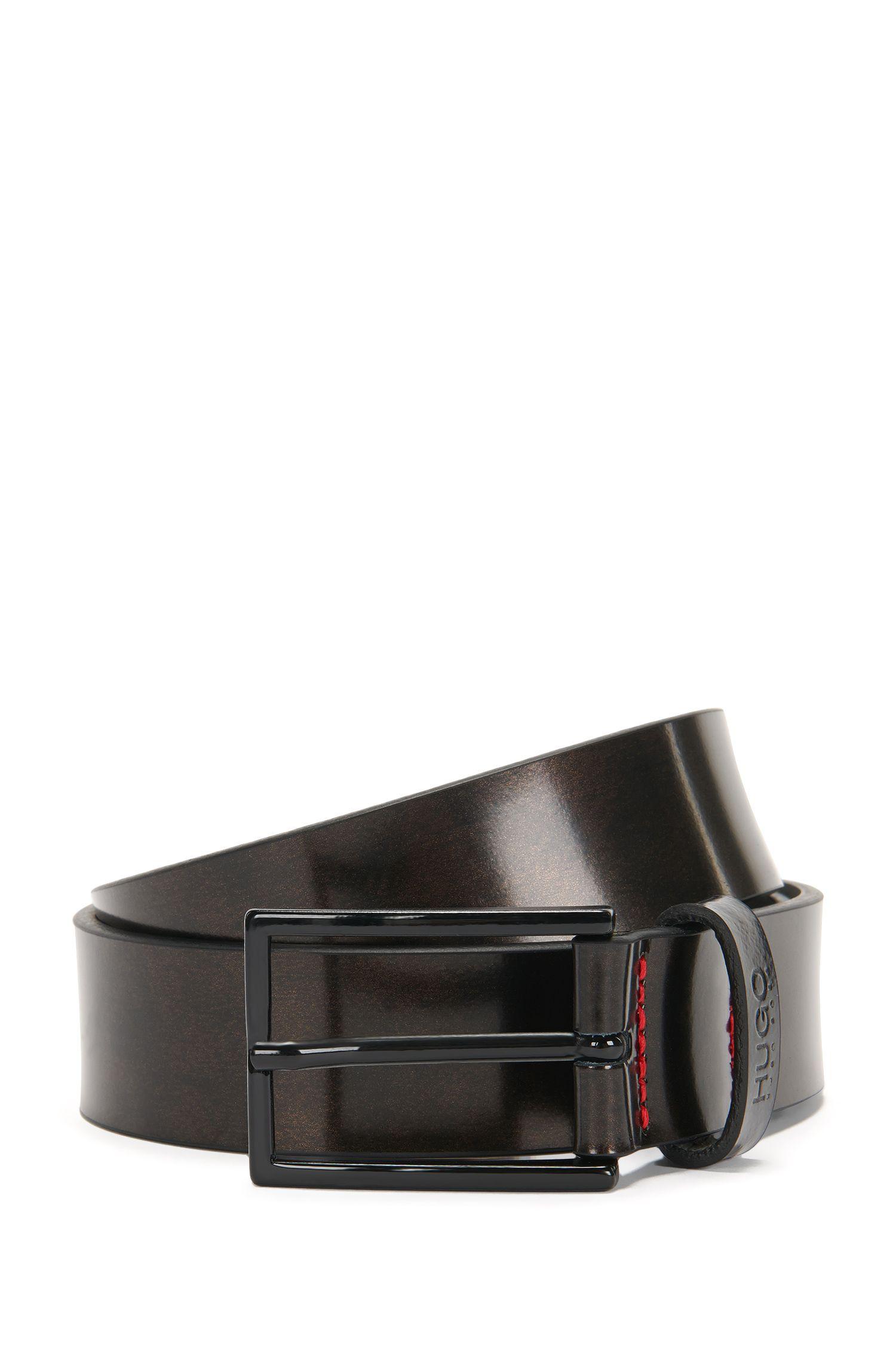'Gigma Sz30 ltmt' | Italian Leather Bronze-Finish Belt