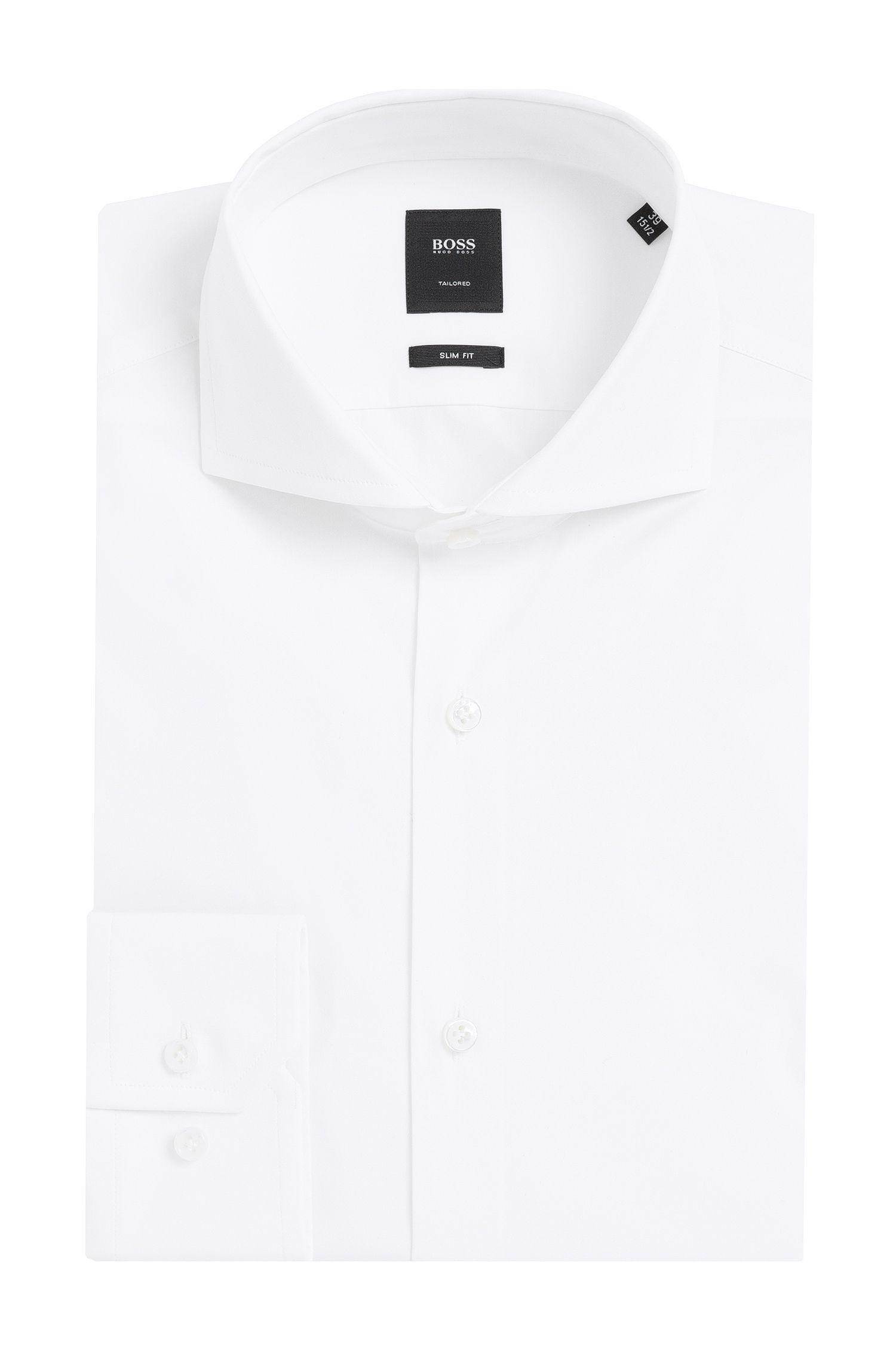 'T-Christo' | Slim Fit, Italian Stretch Cotton Blend Dress Shirt