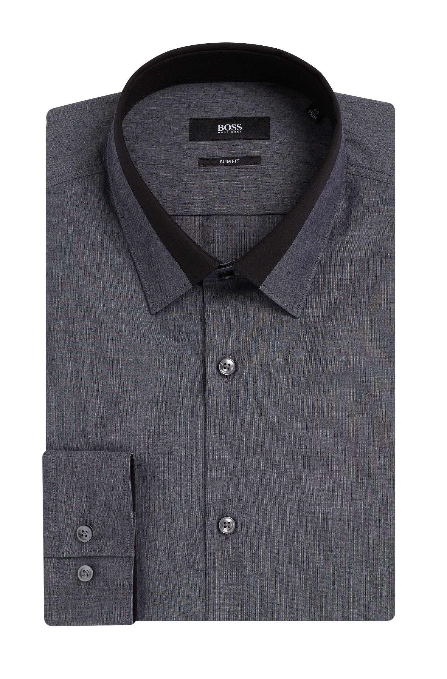 'Jarret' | Slim Fit, Contrast Collar Dress Shirt