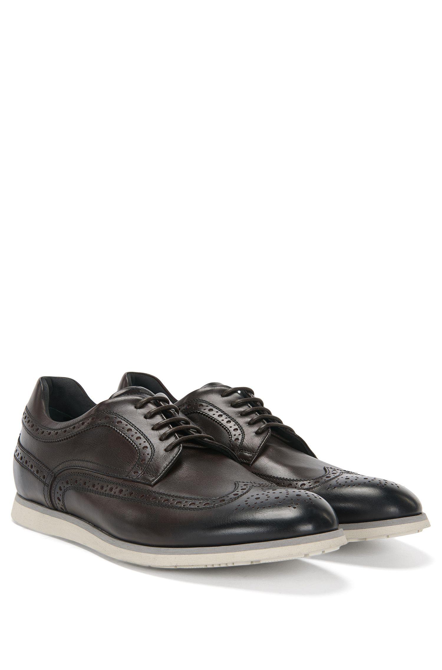 'Pegaso Derb Itwtb'   Italian Calfskin Brogue Derby Shoes