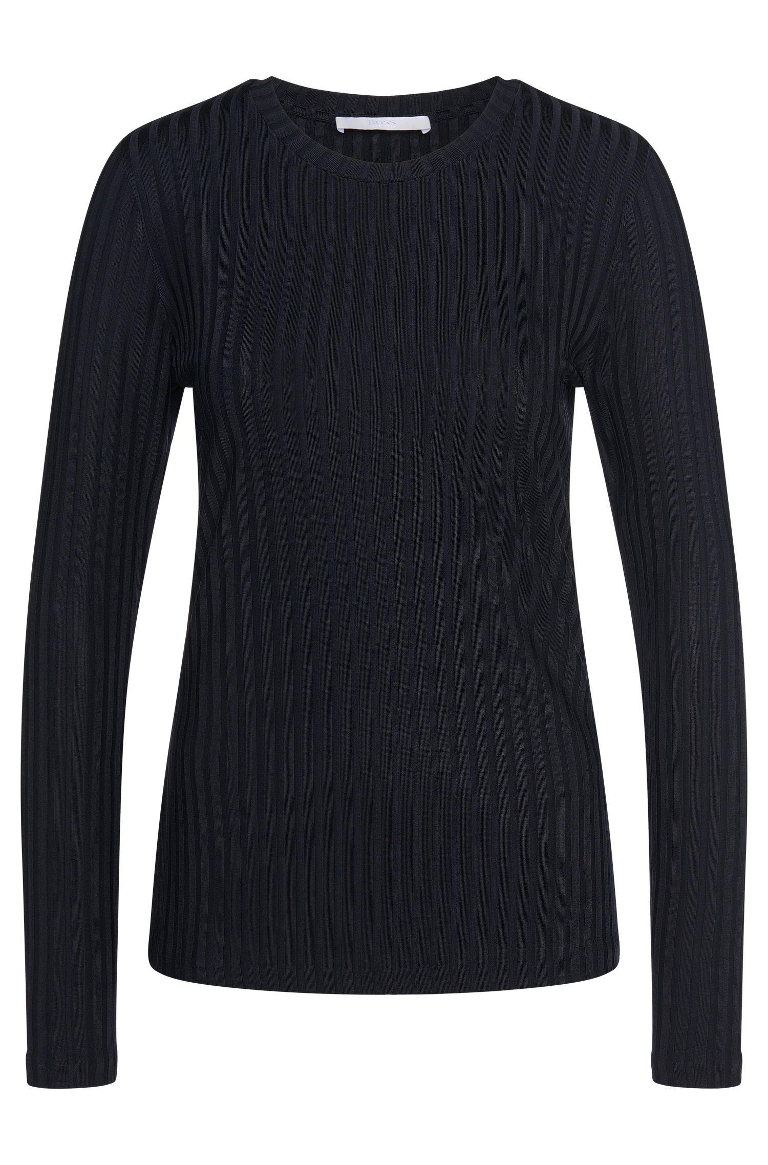'Edira' | Stretch Viscose Ribbed Sweater